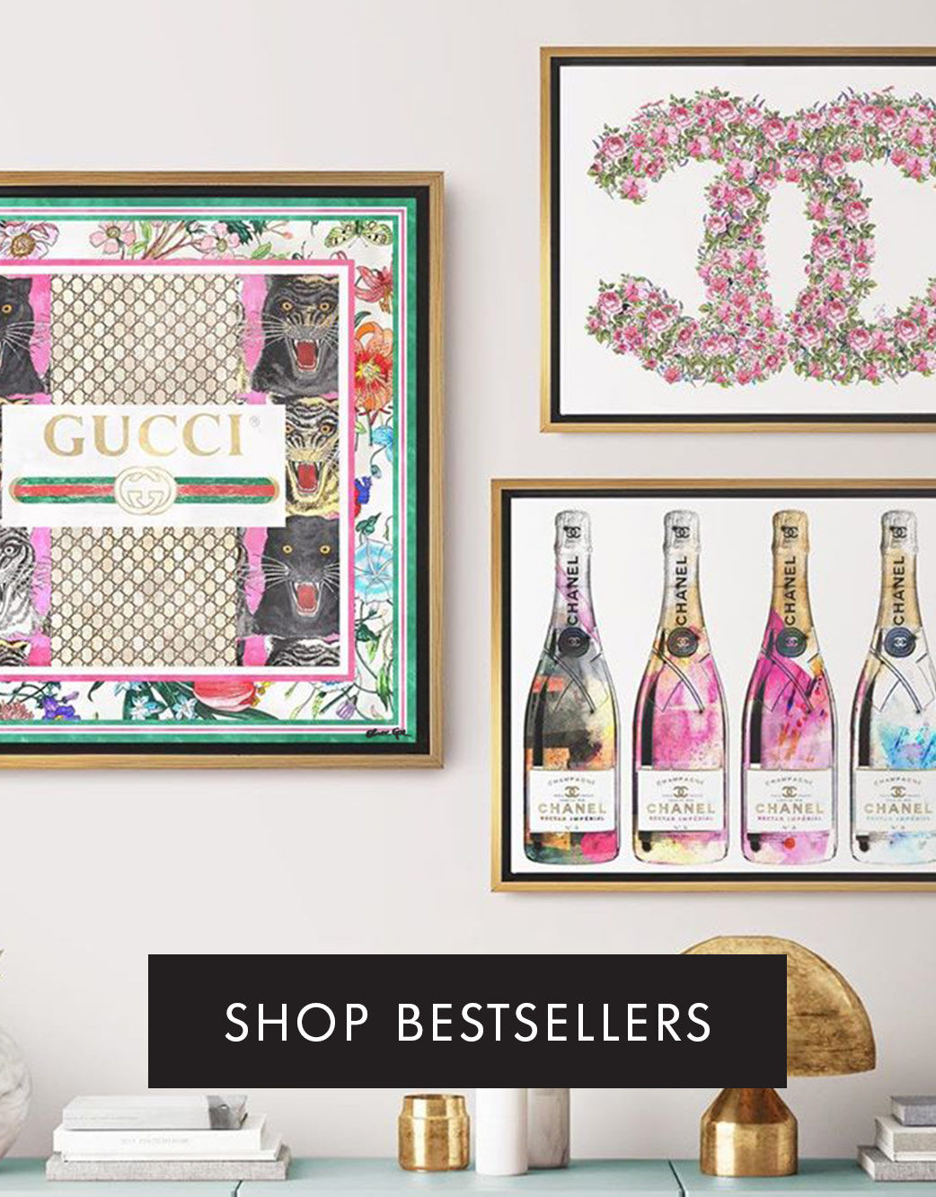 Bestselling Canvas Wall Art - Fashion, Champagne, Florals, Gallery Walls