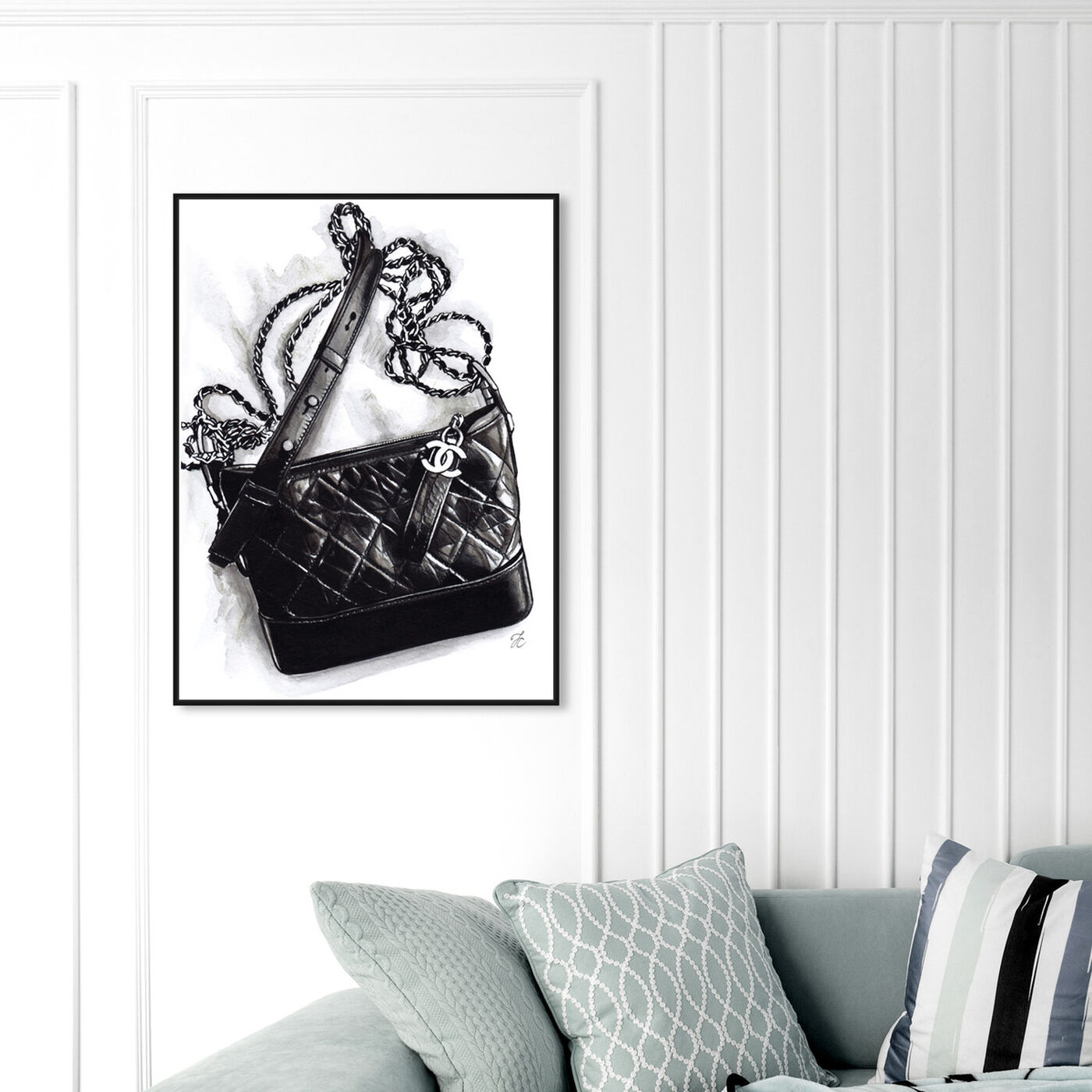 Hanging view of Doll Memories - Gabrielle Handbag featuring fashion and glam and handbags art.
