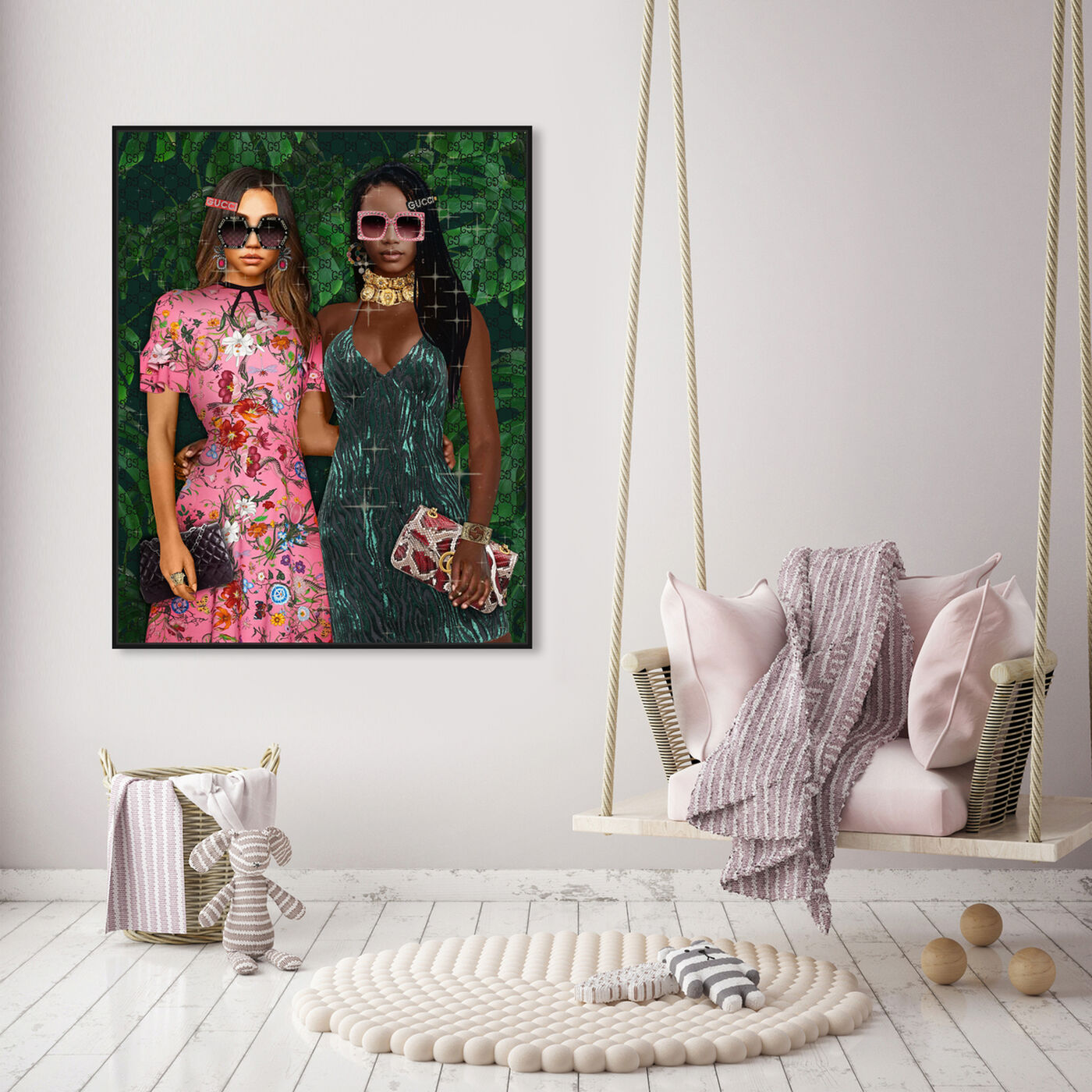 Hanging view of We Fancy featuring fashion and glam and dolls art.