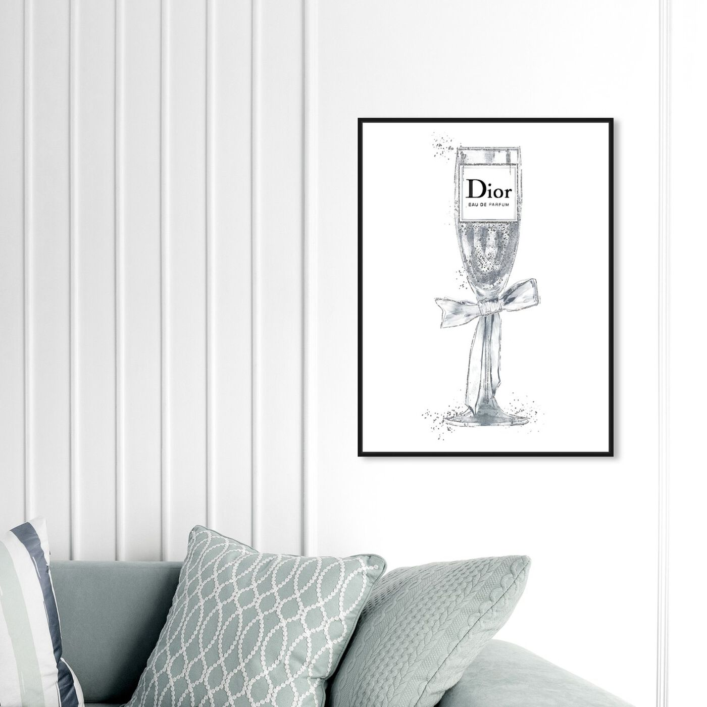 Hanging view of Crystal Bubbly Champagne Perfume White featuring fashion and glam and lifestyle art.