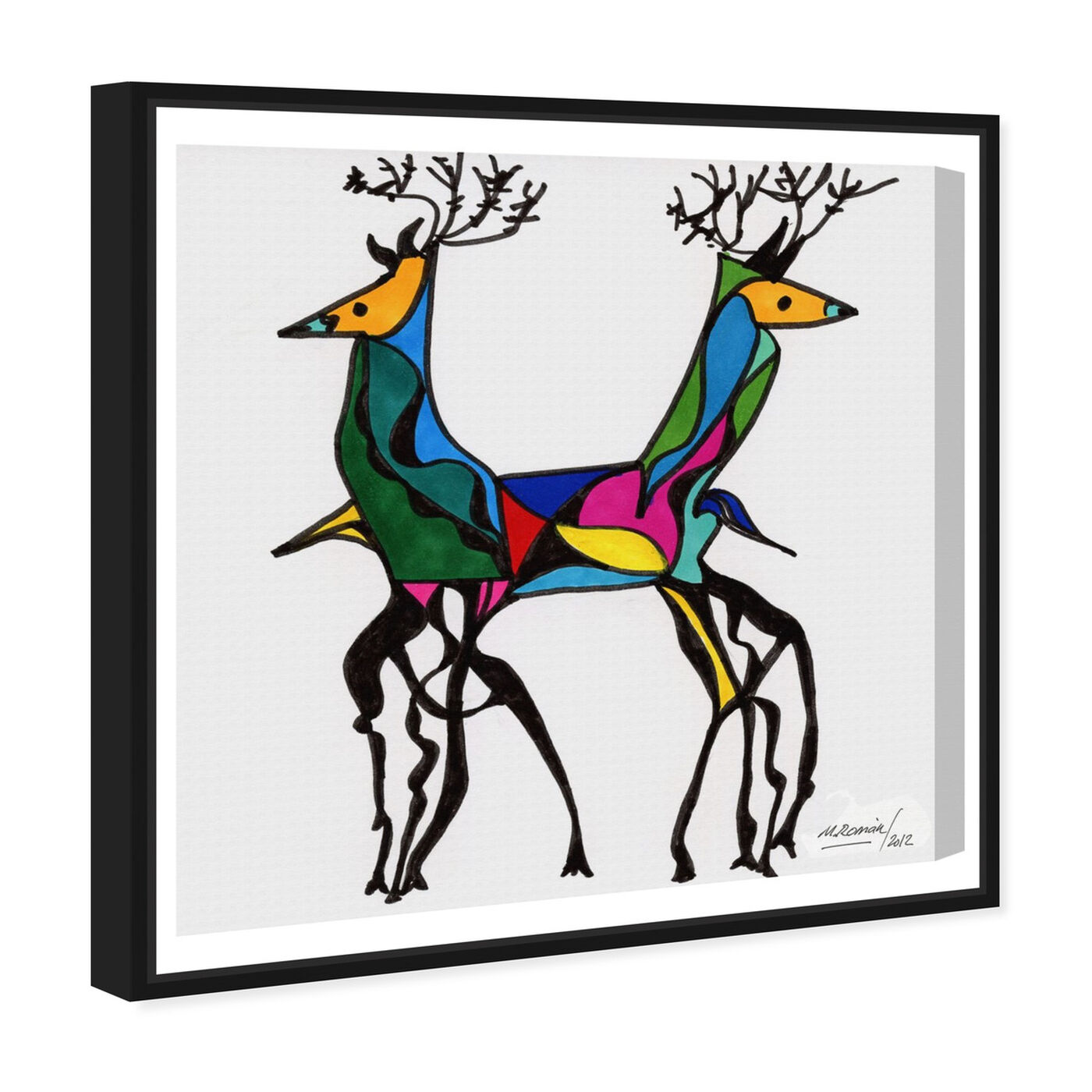 Angled view of Be Deer featuring animals and zoo and wild animals art.