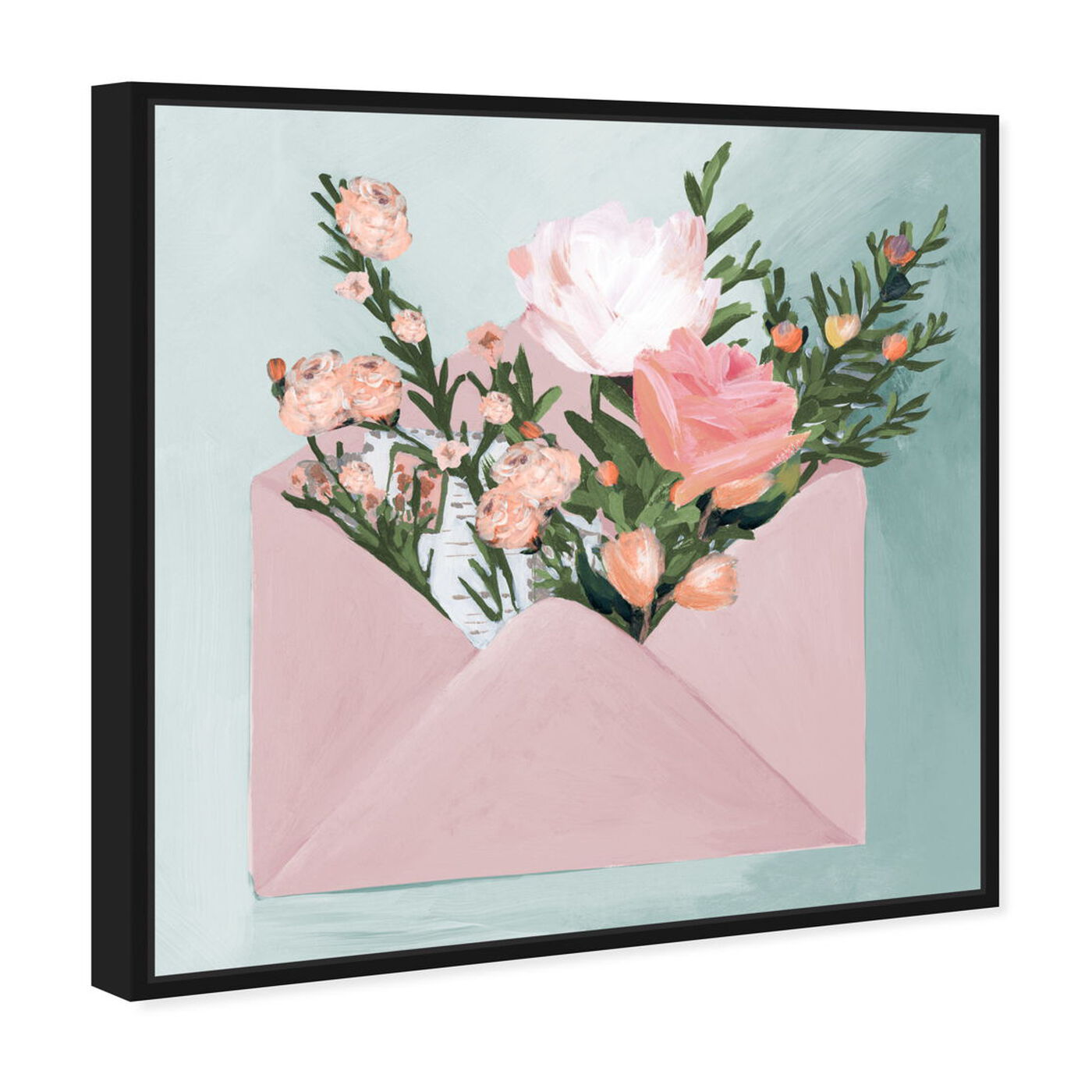 Angled view of Pastel Flower Mail featuring floral and botanical and florals art.