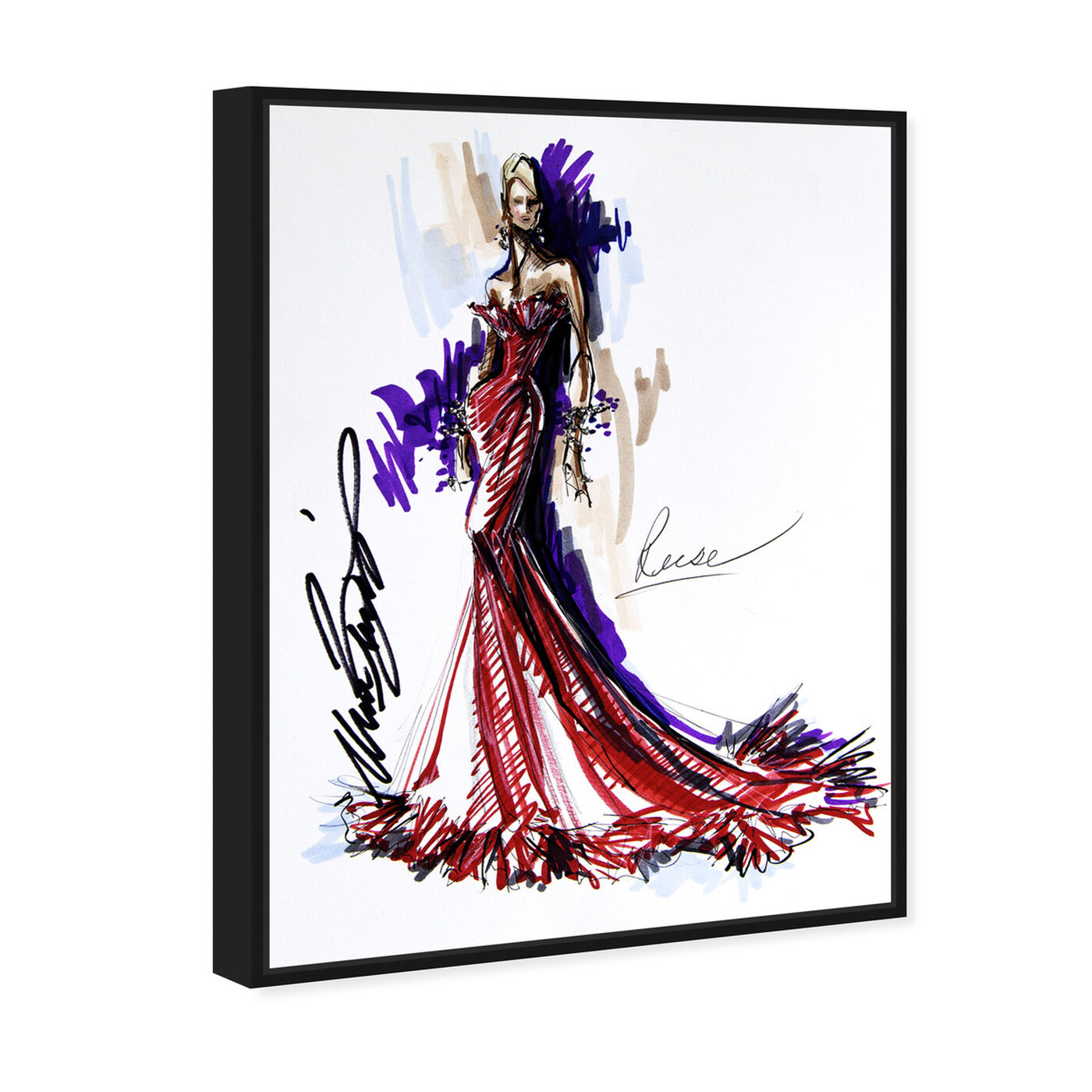 Angled view of Mark Zunino - Reese featuring fashion and glam and sketches art.