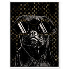 Front view of Fashion Noir Frenchie featuring fashion and glam and accessories art. image number null