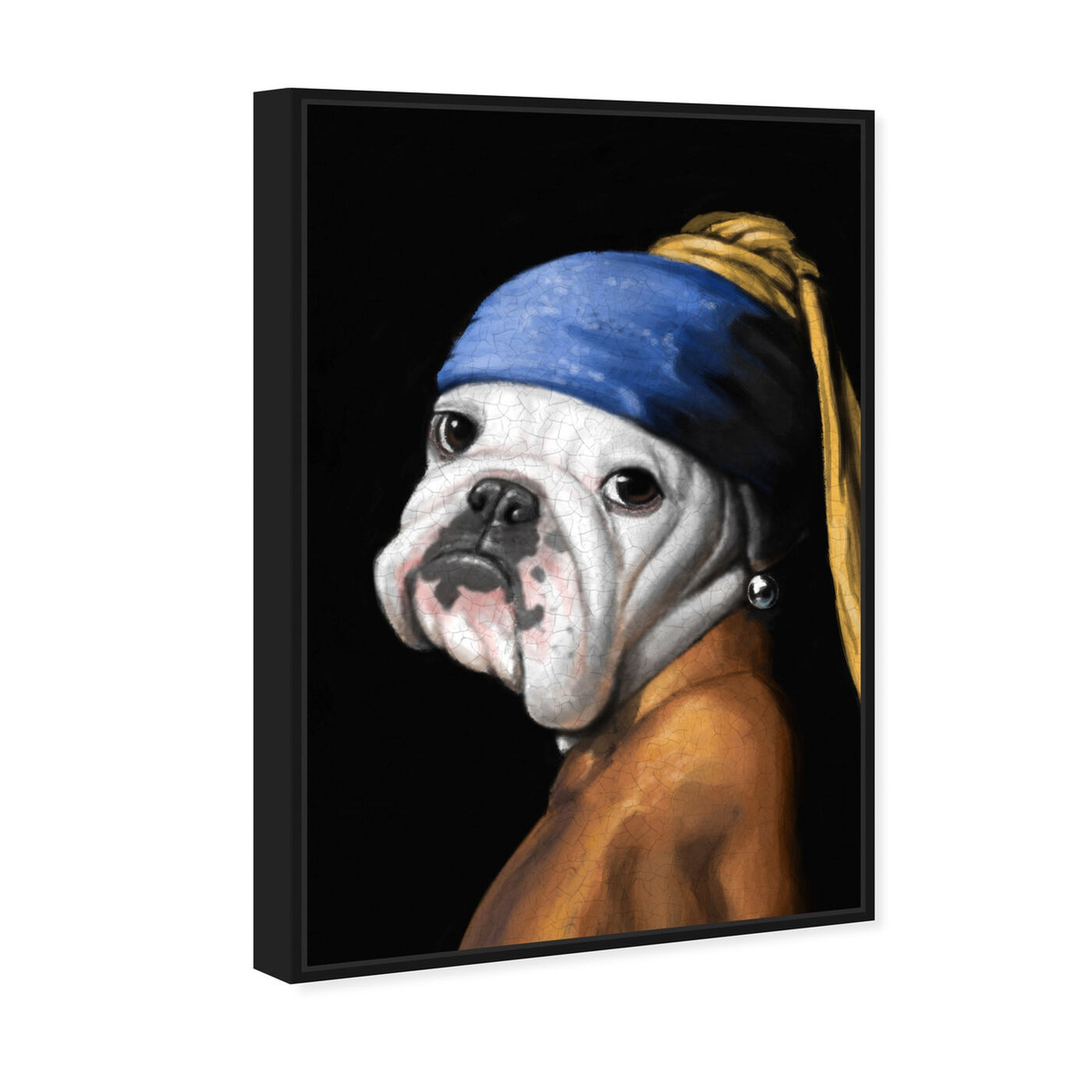 Angled view of Dog With the Pearl Earring featuring classic and figurative and classic art.