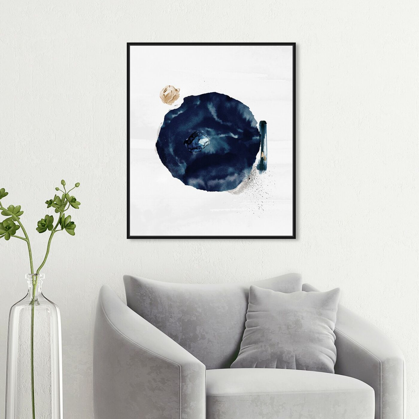 Hanging view of In Orbit featuring abstract and paint art.