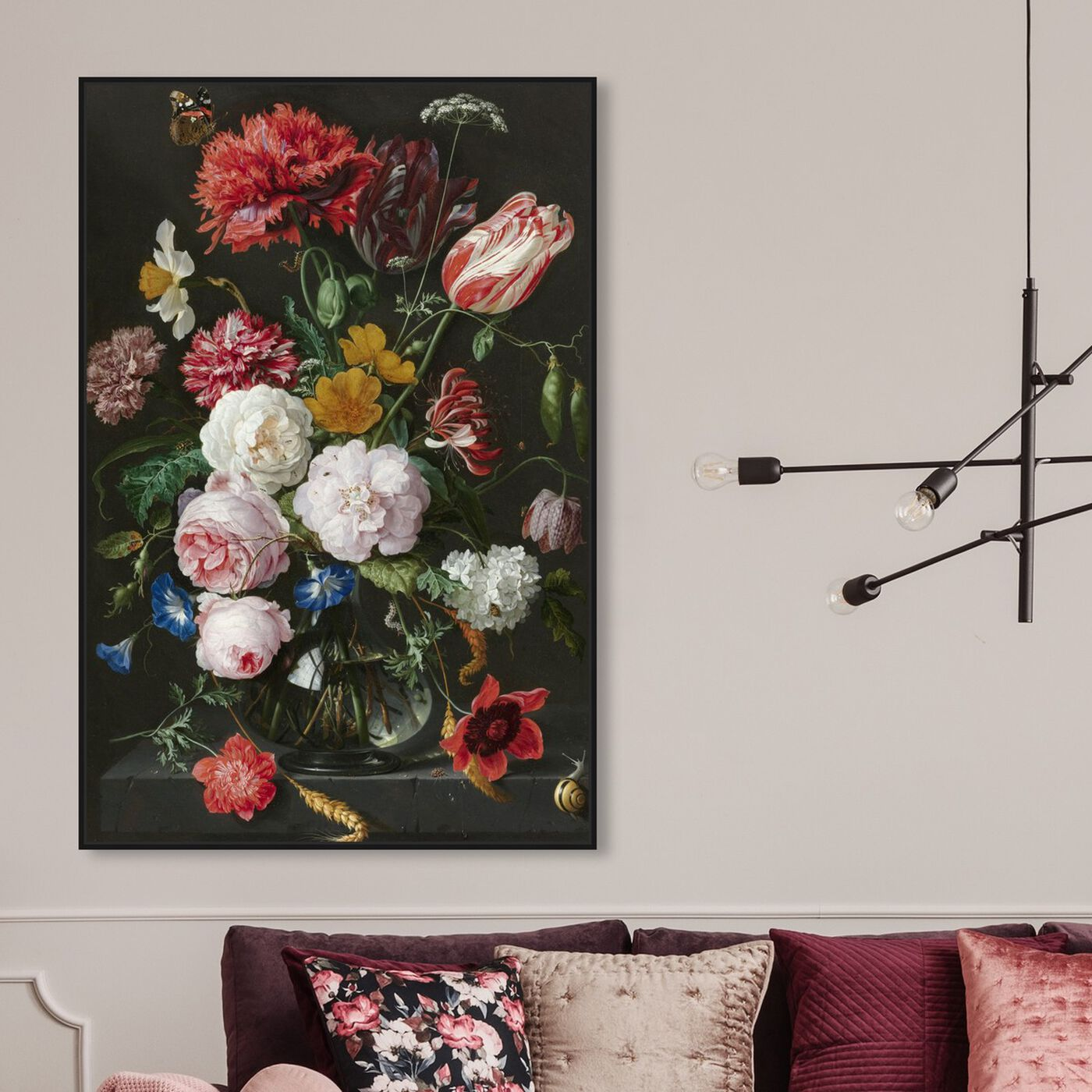 Hanging view of Flower Arrangement XIV - The Art Cabinet featuring floral and botanical and florals art.
