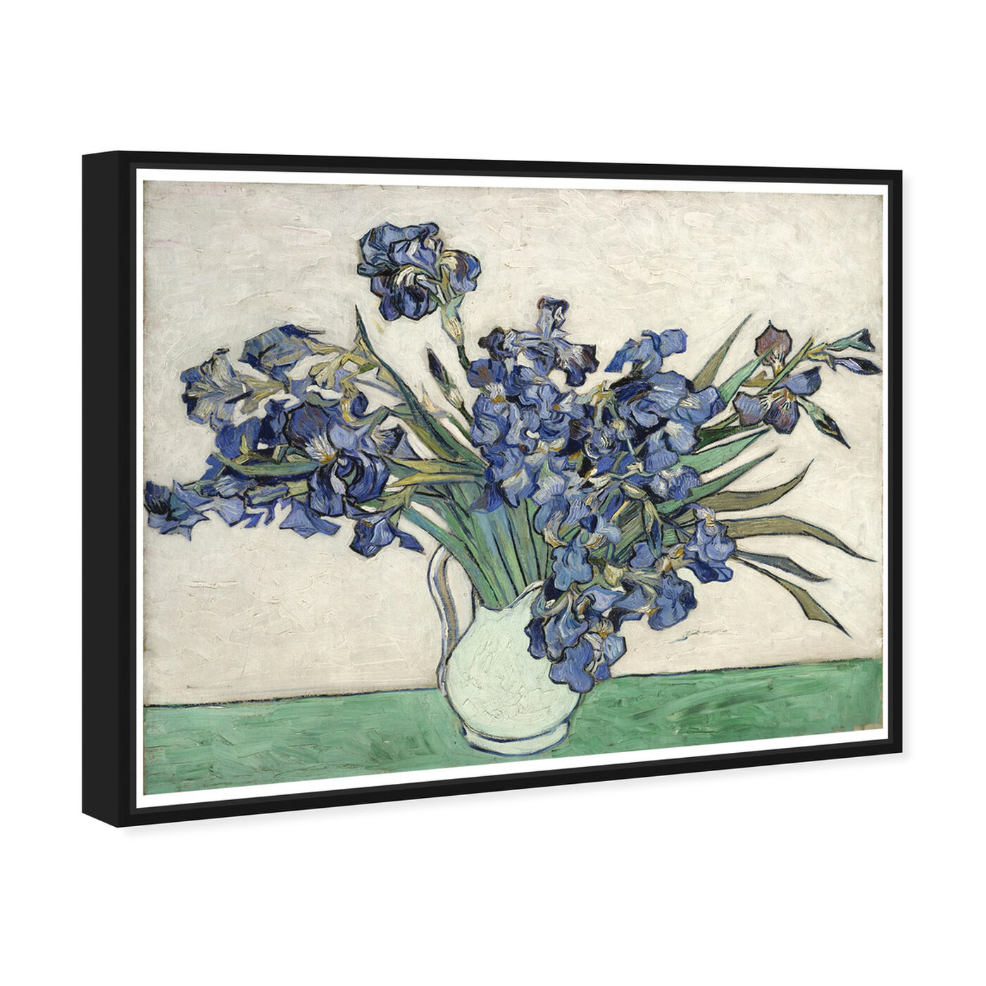 Angled view of Van Gogh - Irises featuring floral and botanical and florals art.