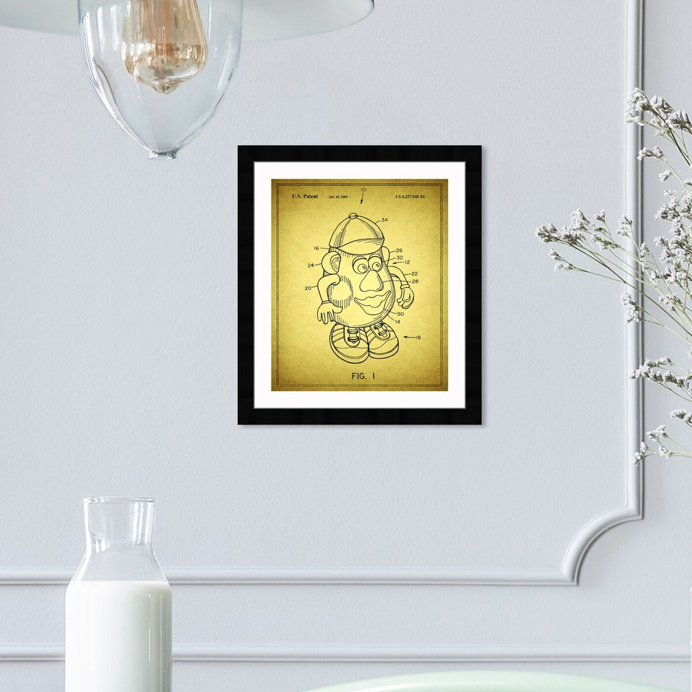 Hanging view of Mr Potato, 2001 featuring symbols and objects and toys art.