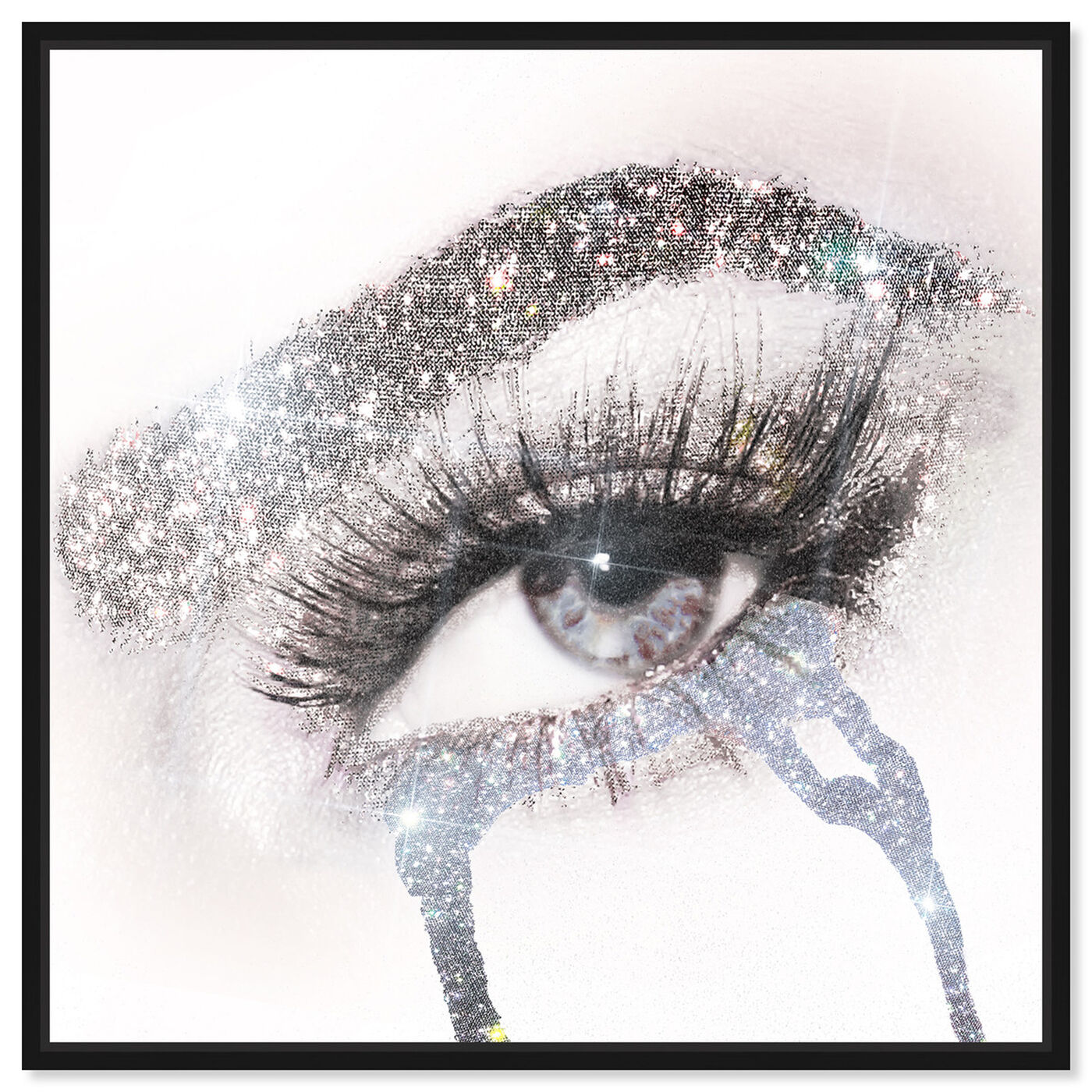 Front view of Eyes and Rhinestones II featuring fashion and glam and makeup art.