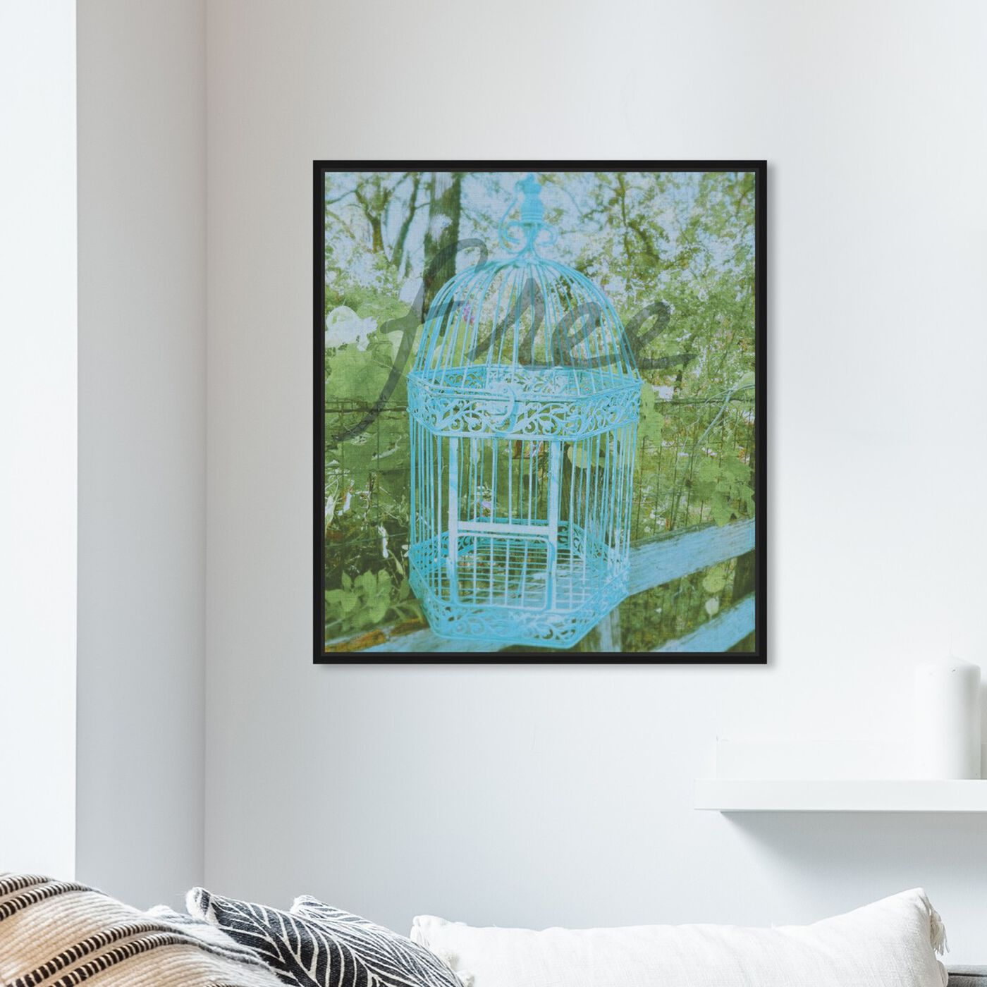 Hanging view of Free II featuring typography and quotes and quotes and sayings art.