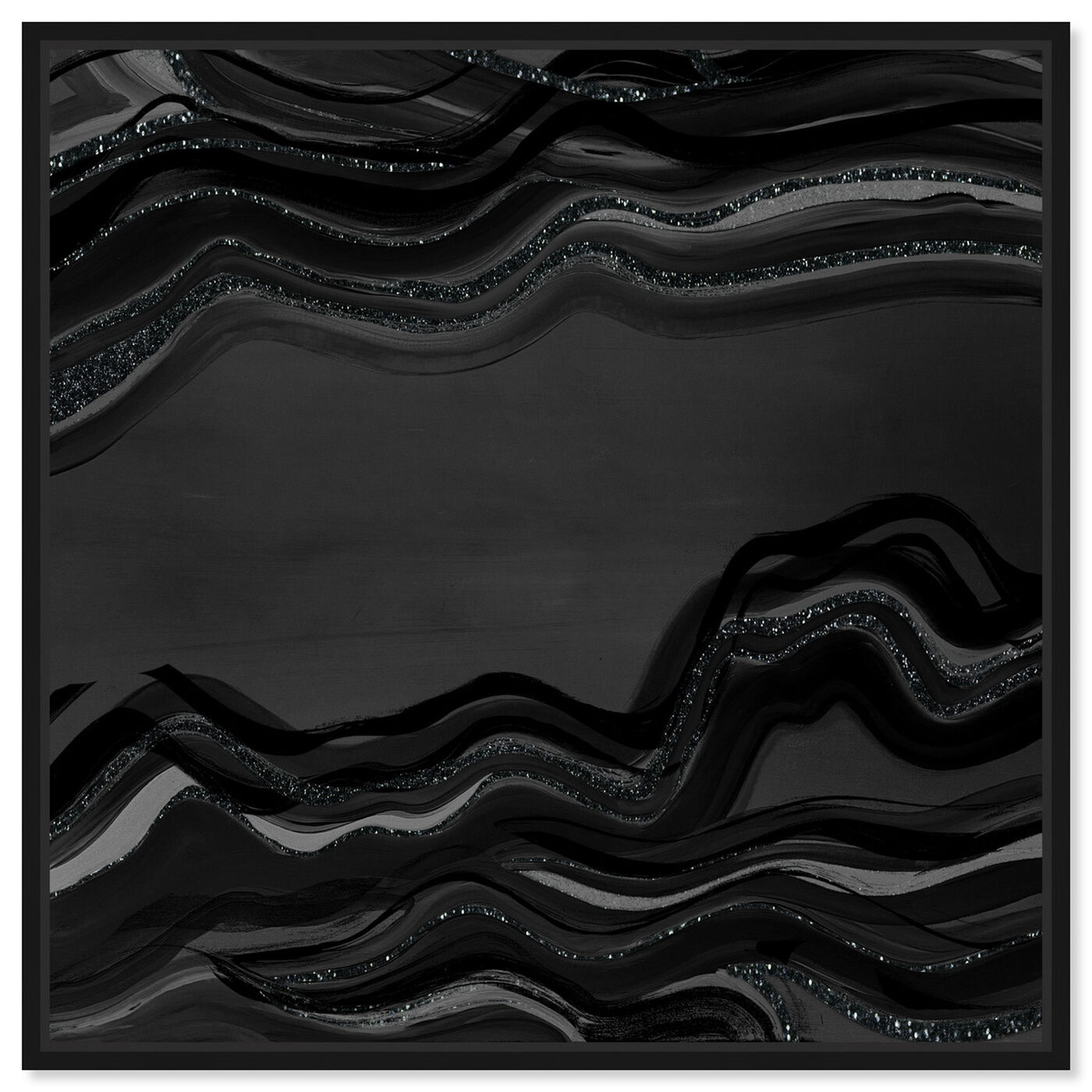 Front view of Night Flow Dark Glitter featuring abstract and paint art.