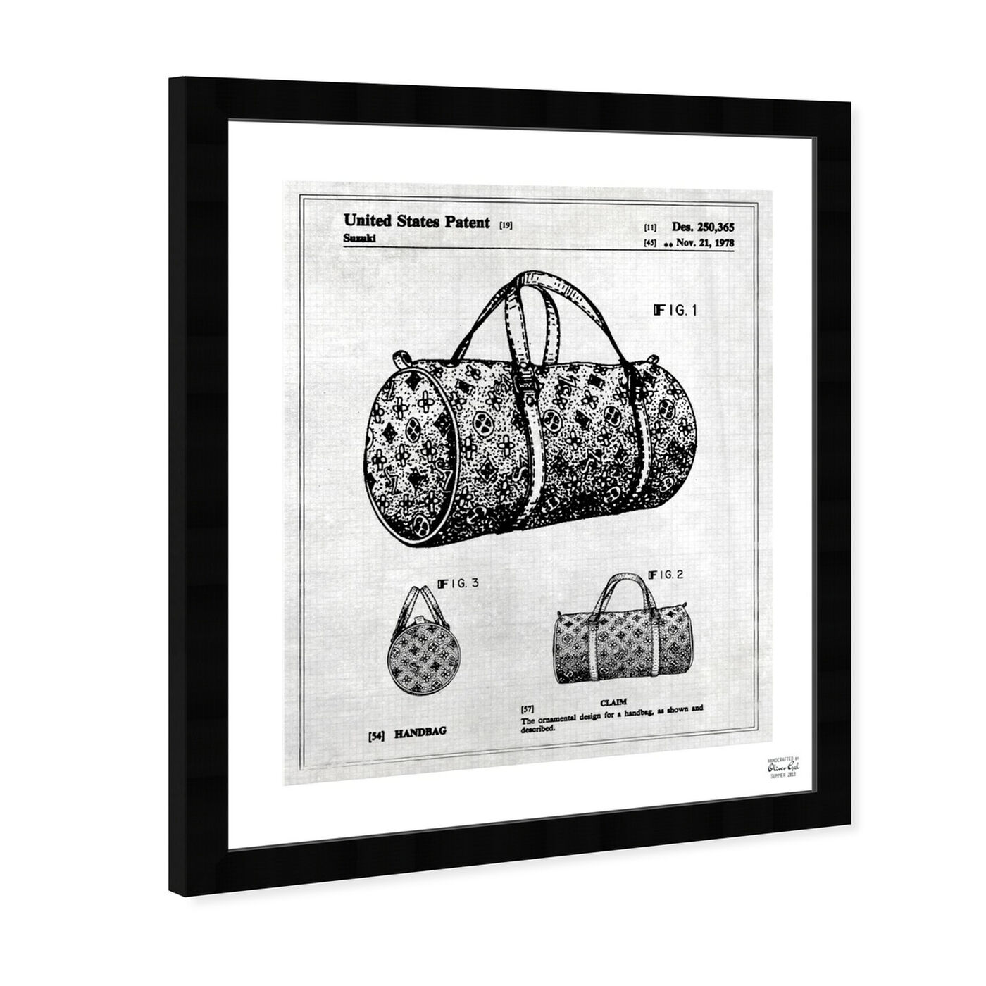 Angled view of Handbag 1978 featuring fashion and glam and handbags art.