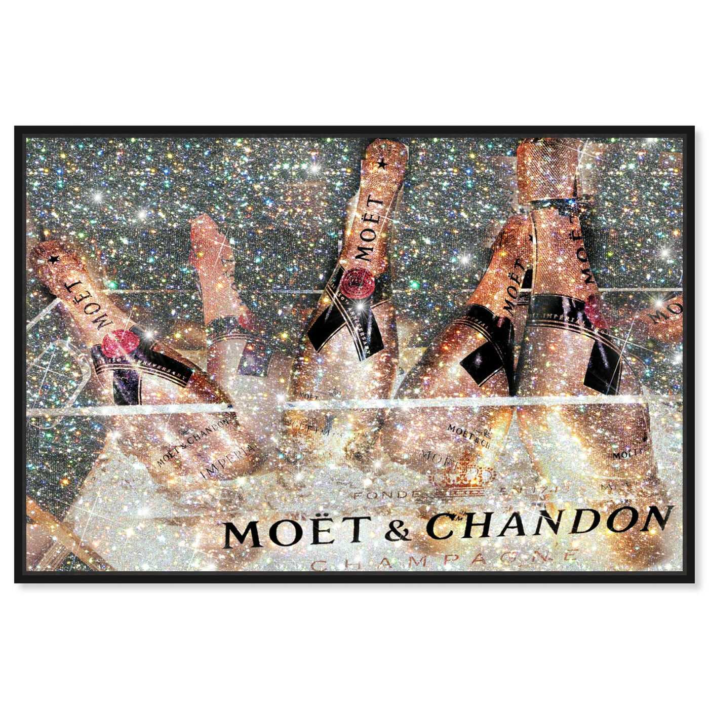 Front view of The French Bubbly featuring fashion and glam and lifestyle art.