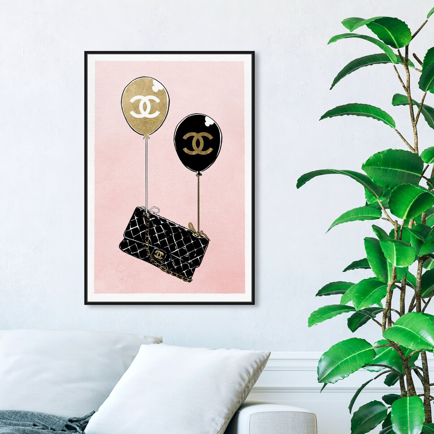 Hanging view of Balloon Purse featuring fashion and glam and handbags art.
