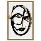 Front view of Abstract Portrait featuring abstract and paint art. image number null