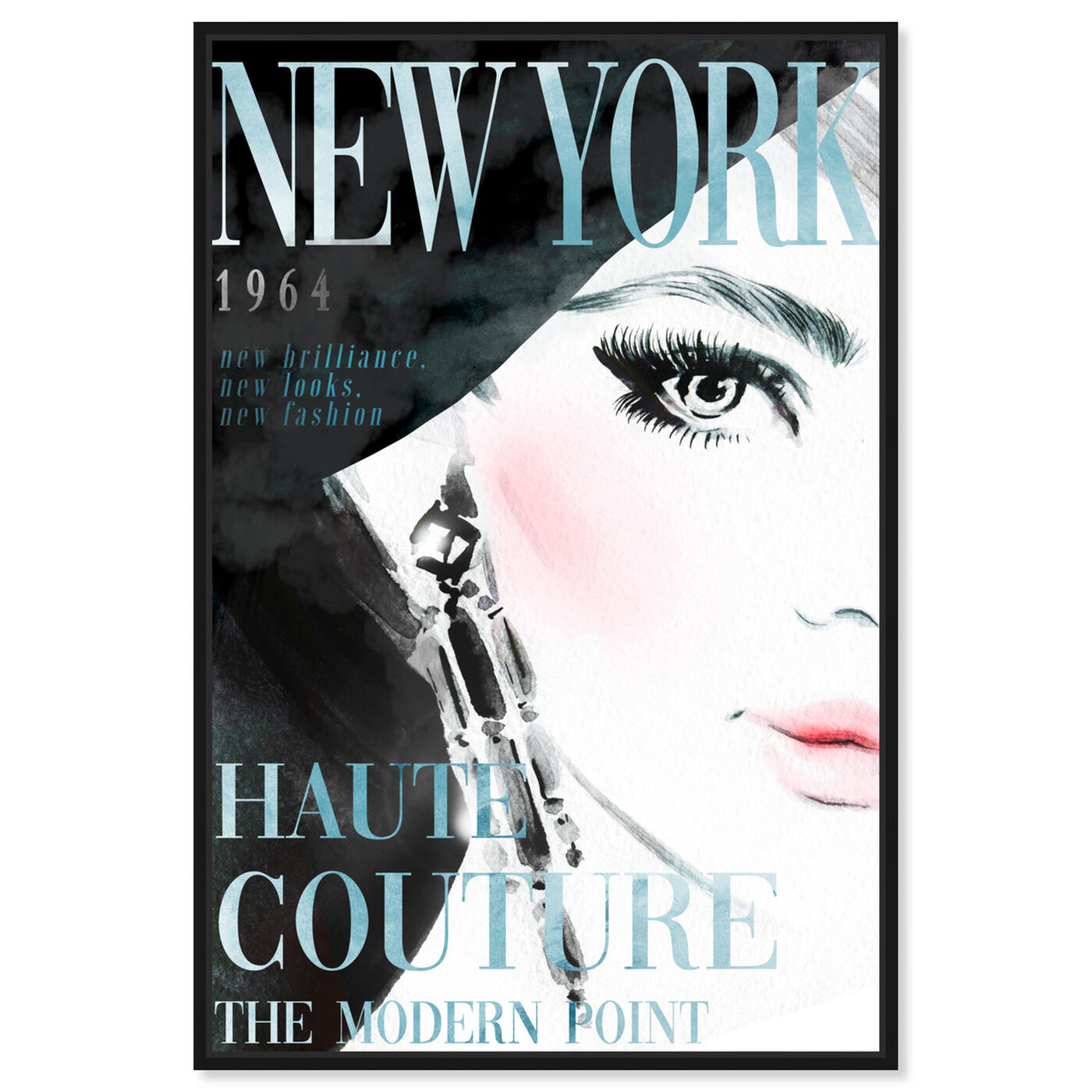 Front view of Cover New York Aqua featuring advertising and publications art.