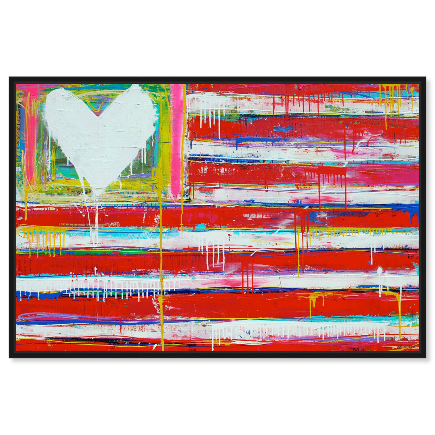 Front view of One Nation by Tiago Magro featuring americana and patriotic and us flags art.