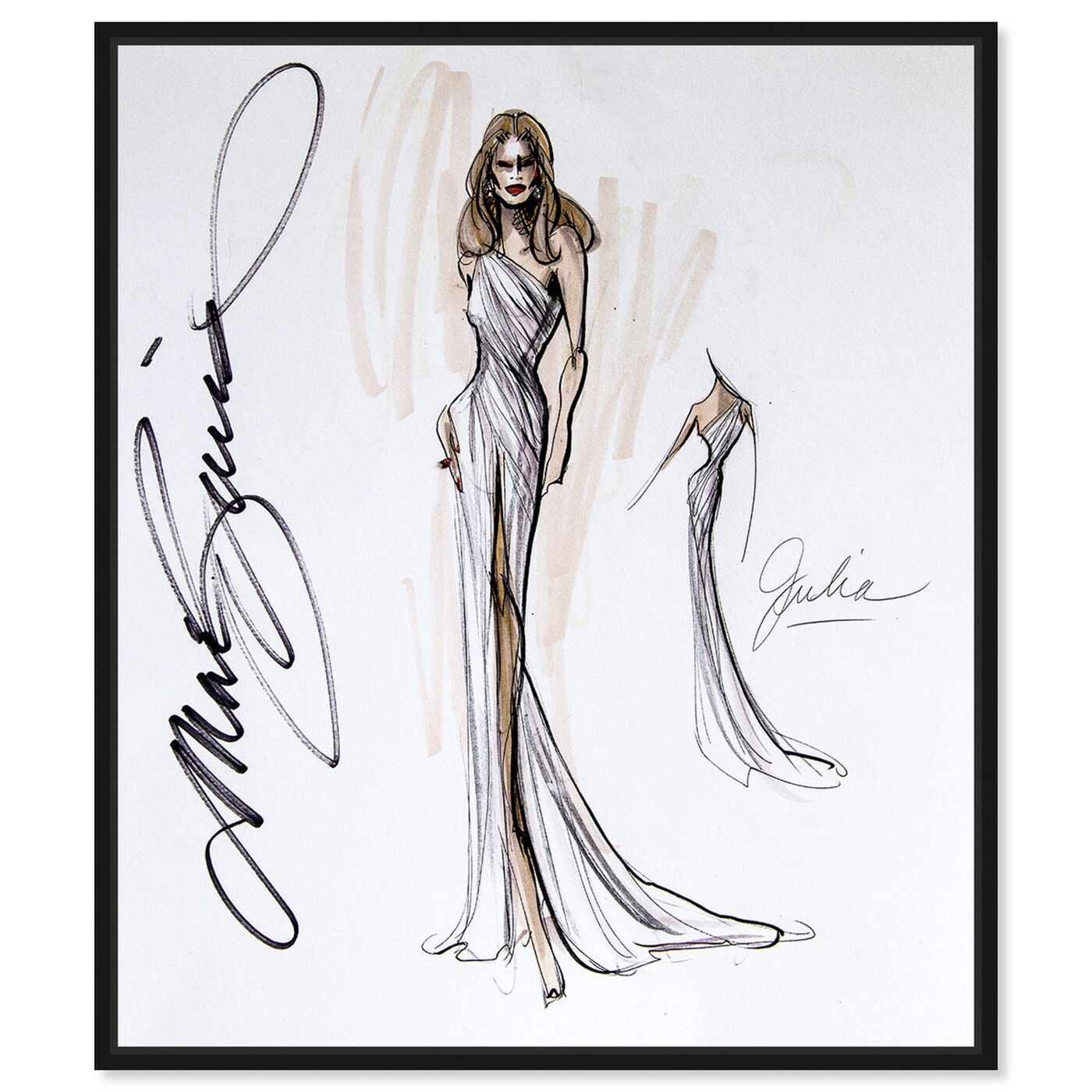 Front view of Mark Zunino - Julia featuring fashion and glam and sketches art.