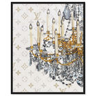 Front view of Fancy Light I featuring fashion and glam and chandeliers art. image number null