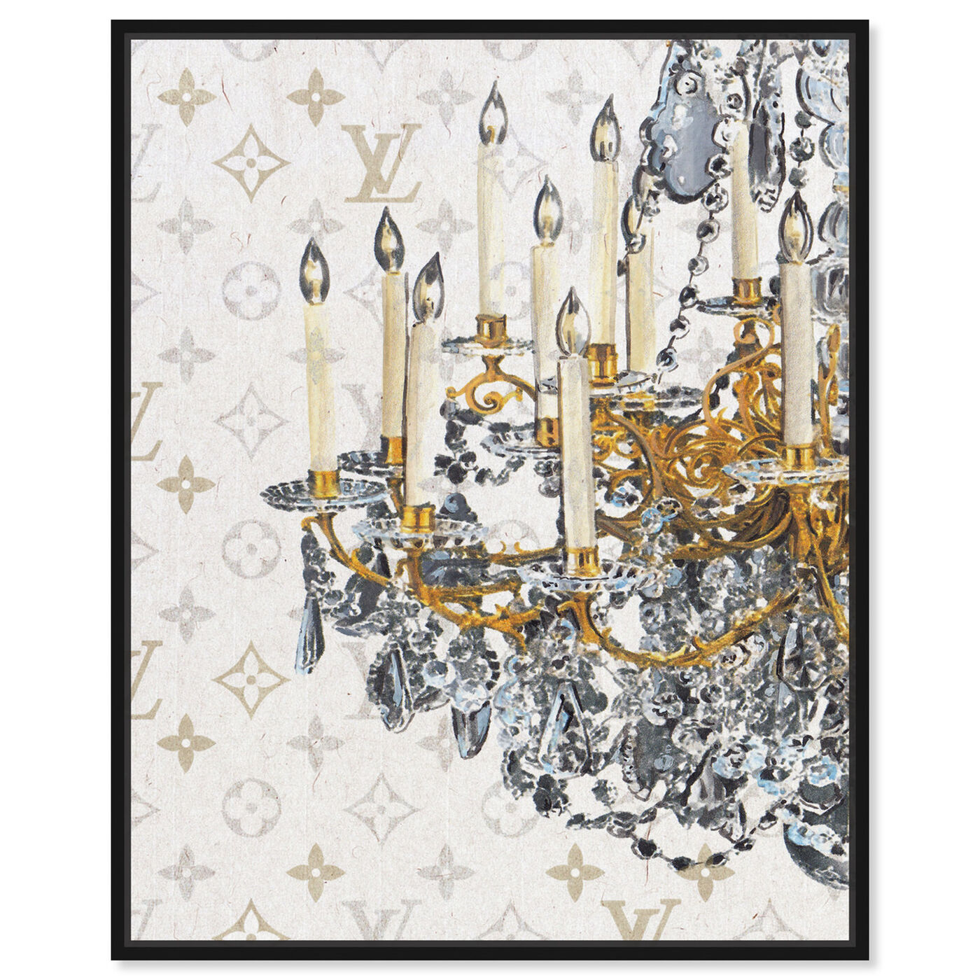Front view of Fancy Light I featuring fashion and glam and chandeliers art.