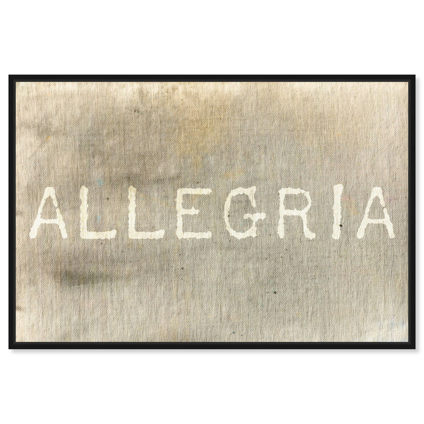 Front view of Allegria featuring typography and quotes and inspirational quotes and sayings art.