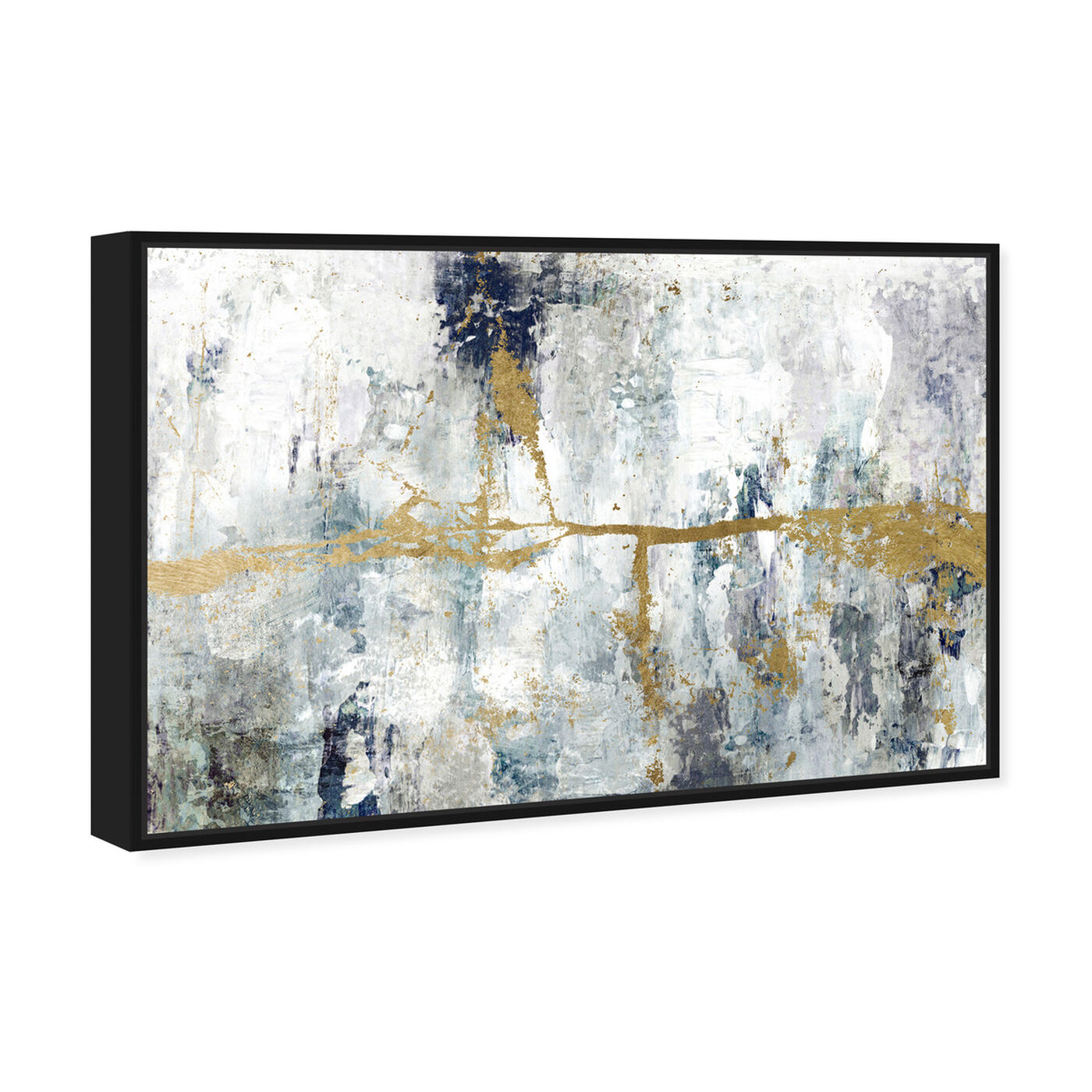 Angled view of Ocean Divide featuring abstract and paint art.