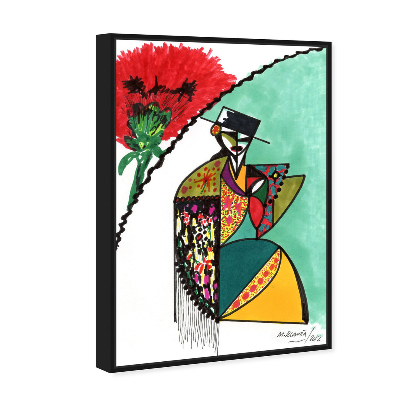 Angled view of Flamenca featuring music and dance and dance art.