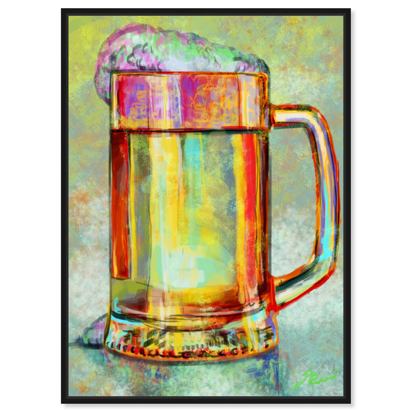 Front view of Beer Mug featuring drinks and spirits and beer art.