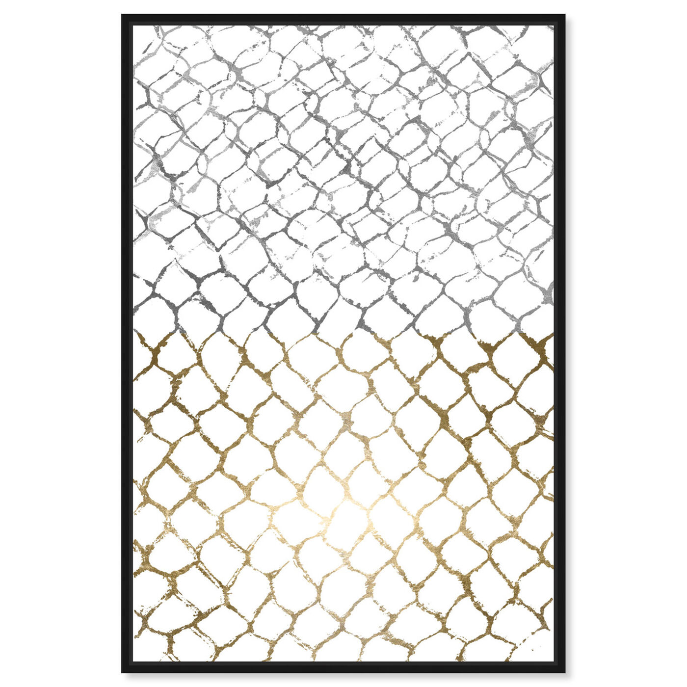 Front view of Organic Net featuring abstract and geometric art.