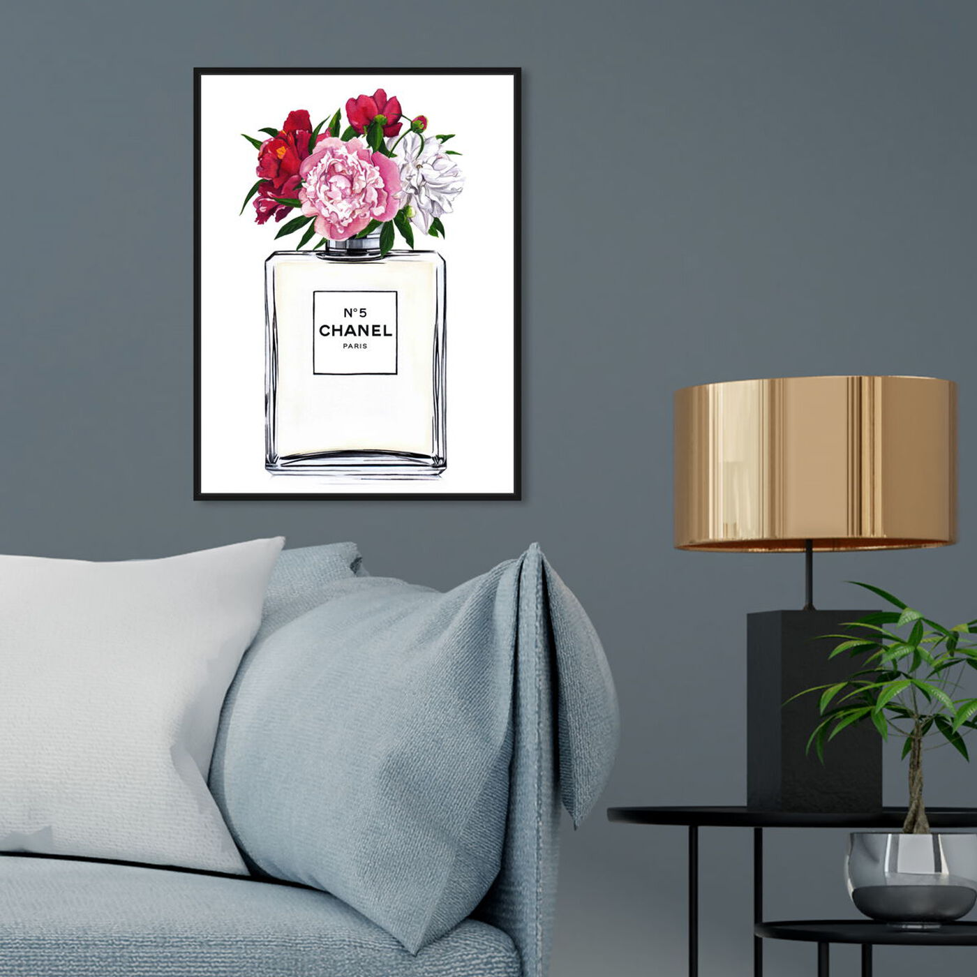 Hanging view of Doll Memories - A Woman's Peonies featuring fashion and glam and perfumes art.