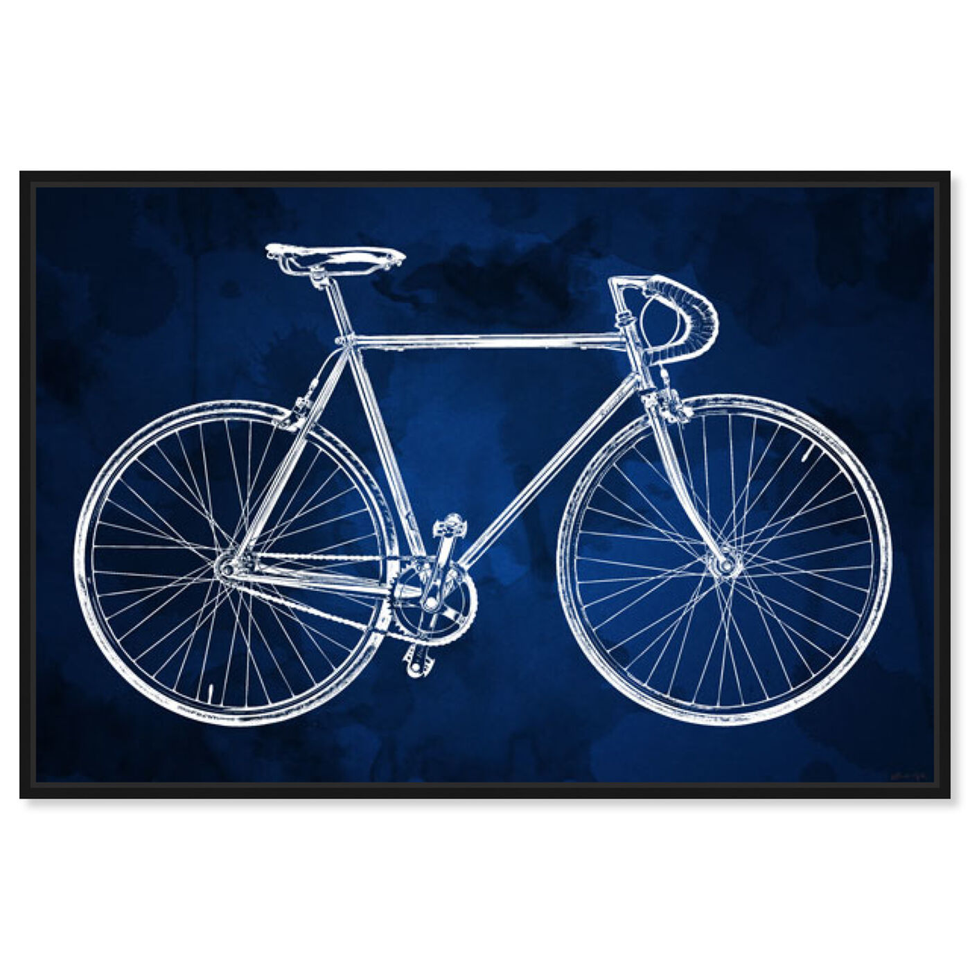 Front view of Fixie featuring transportation and bicycles art.