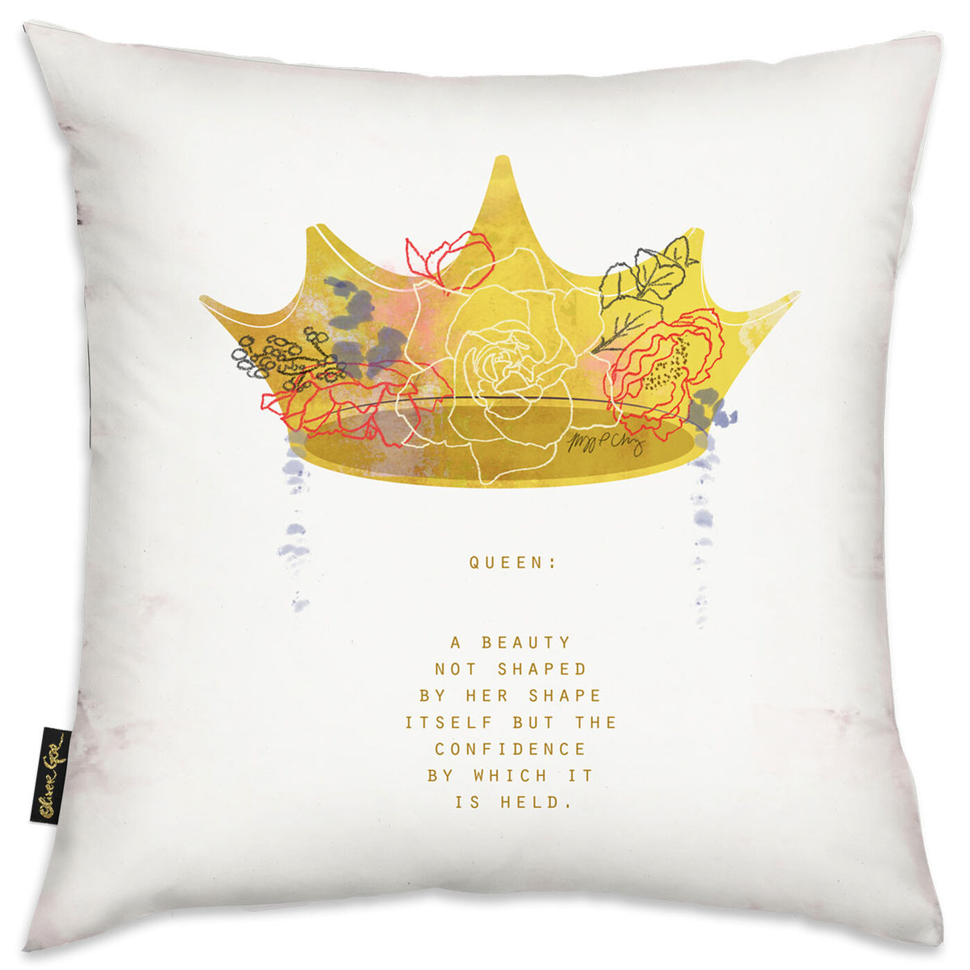 Crown Queen Pillow by Maggie P. Chang I