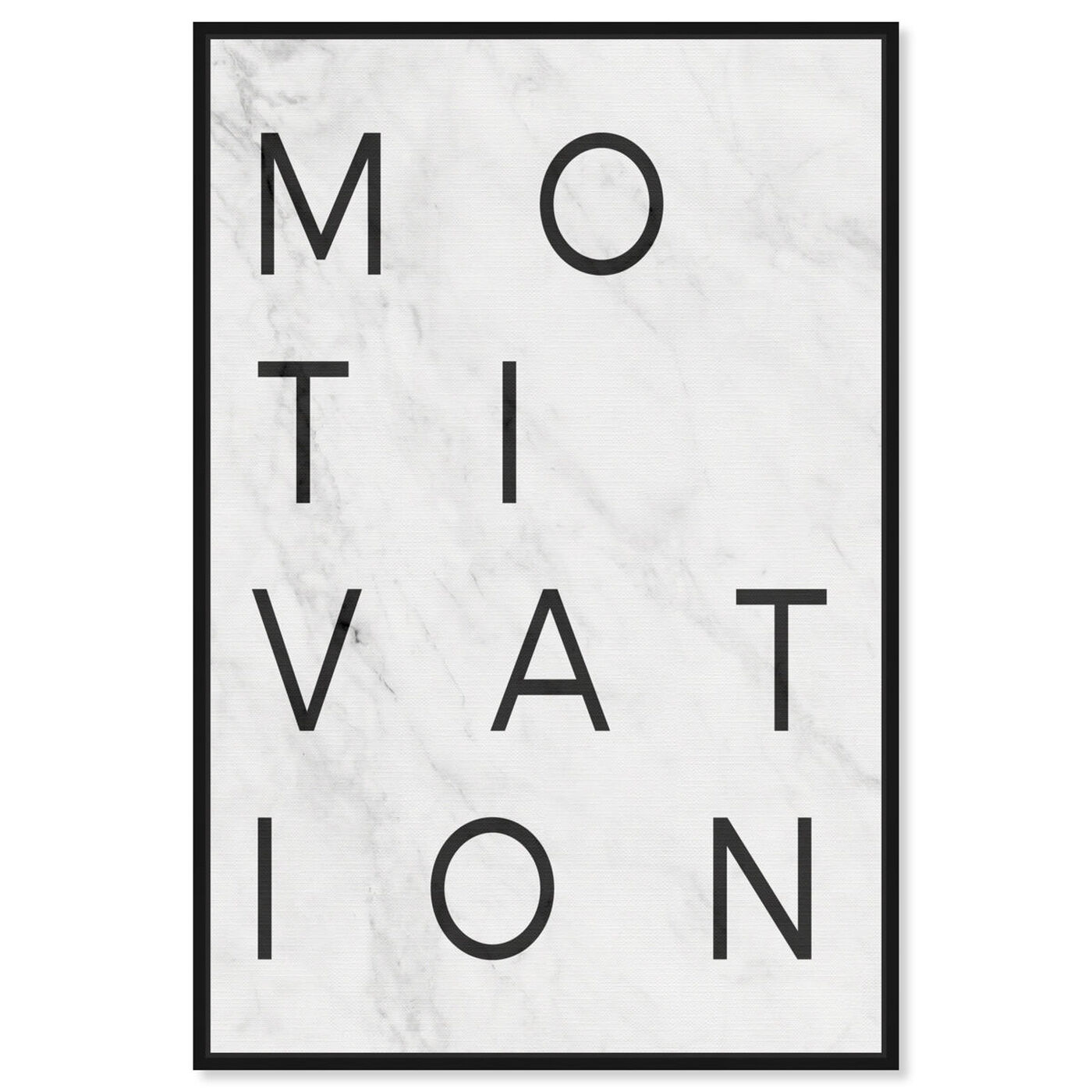 Front view of Motivation Minimalist Marble Paper featuring typography and quotes and motivational quotes and sayings art.