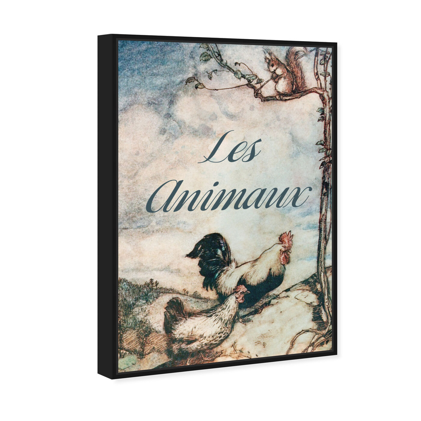 Angled view of Les Animaux featuring animals and farm animals art.