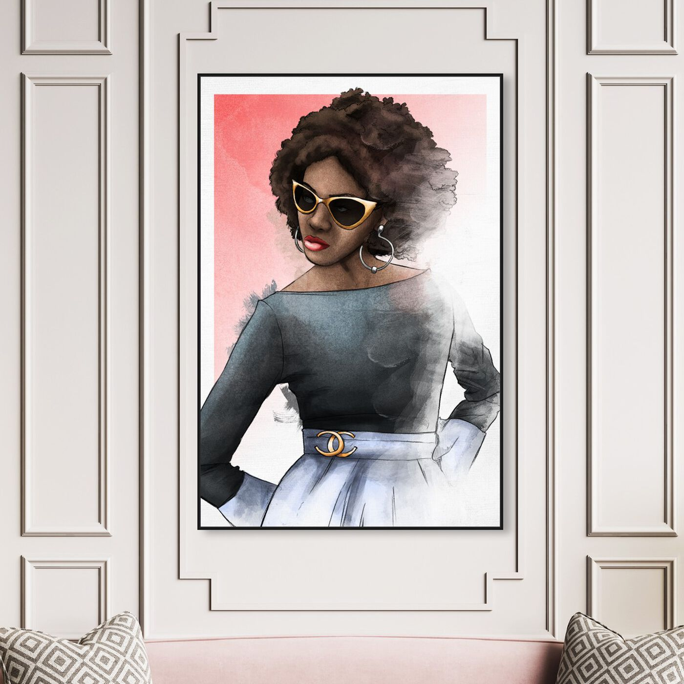 Hanging view of Chic Glam featuring fashion and glam and outfits art.
