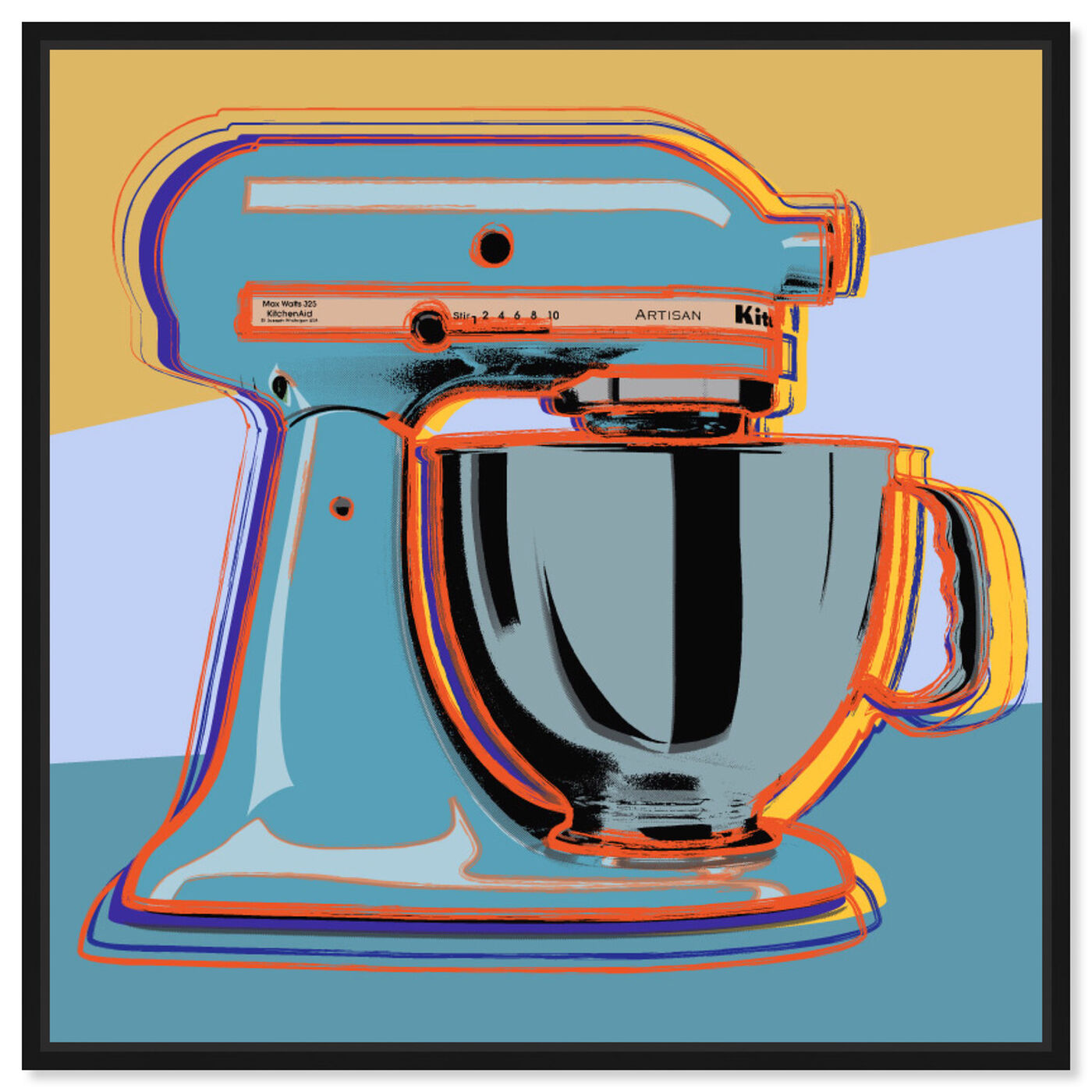 Front view of Classic Blender featuring food and cuisine and baking essentials art.