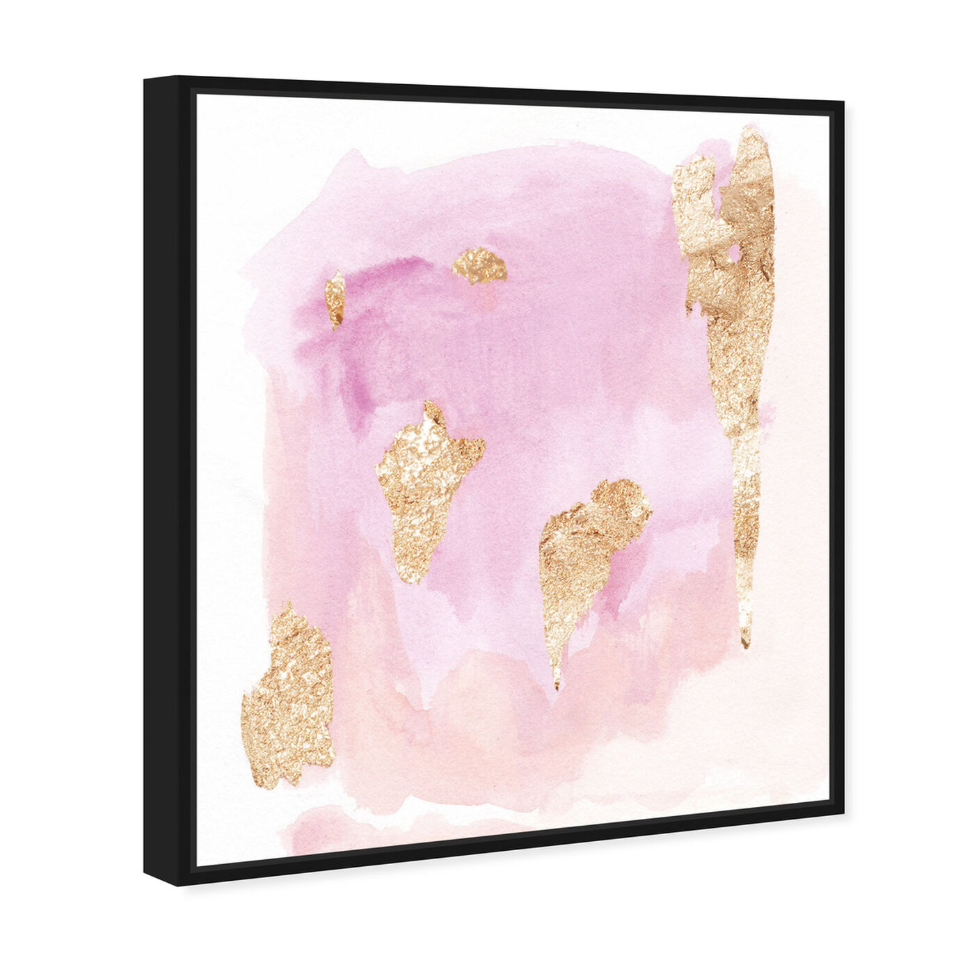 Angled view of Pink Wednesdays featuring abstract and watercolor art.