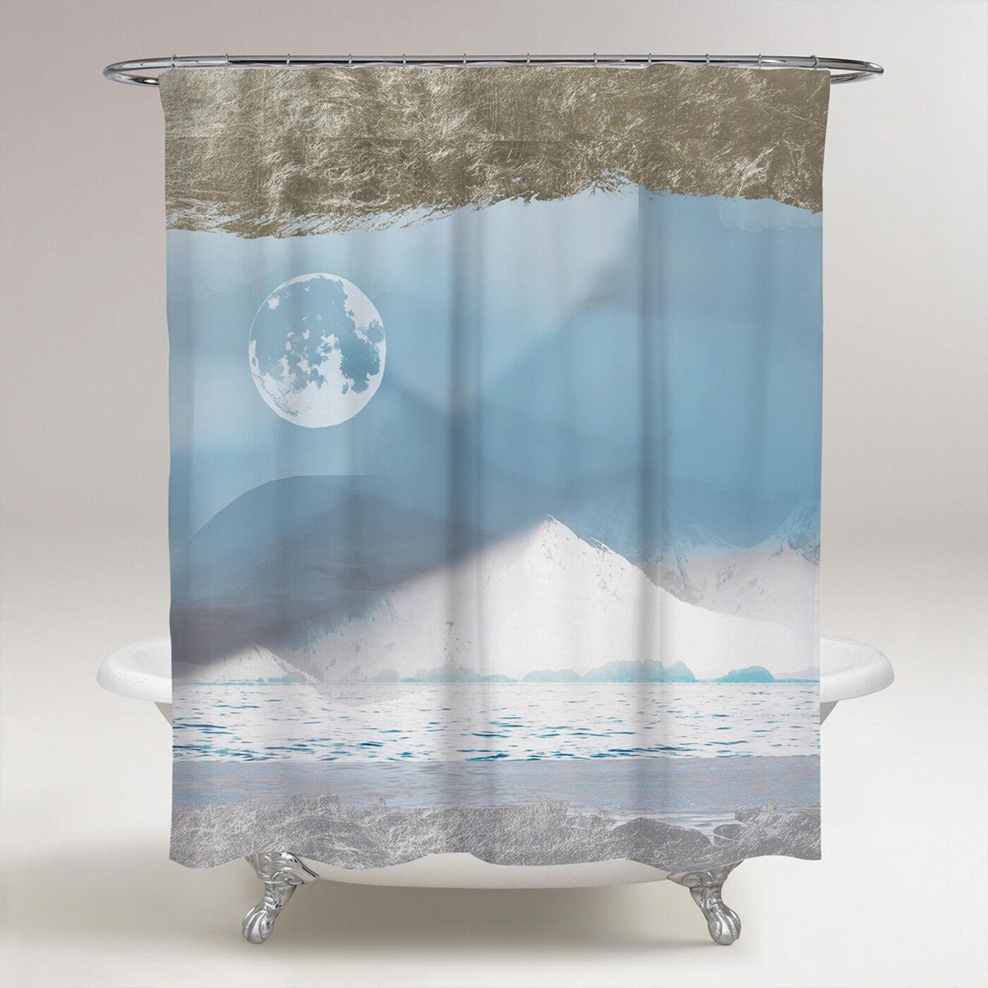 Viva La Luna Ethereal Shower Curtain