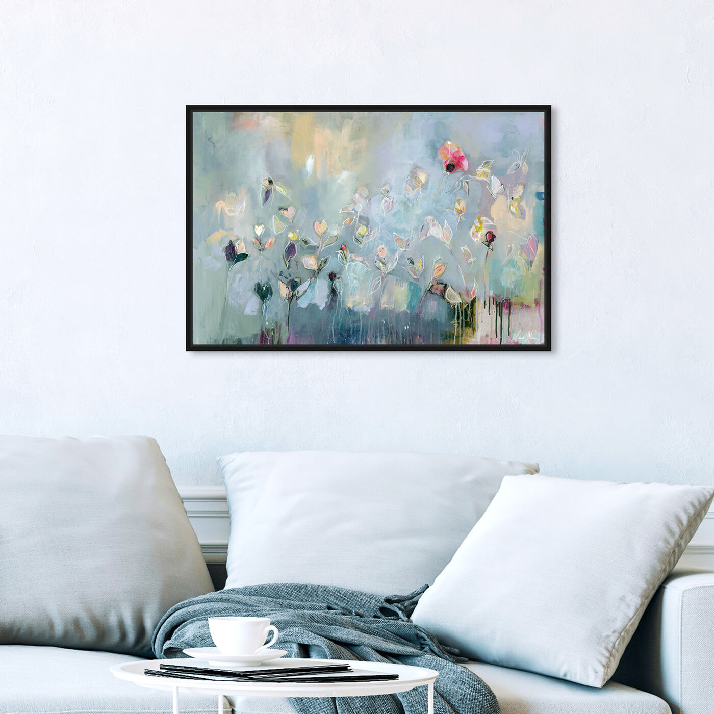 Hanging view of Michaela Nessim - Infinitely Divine featuring abstract and flowers art.