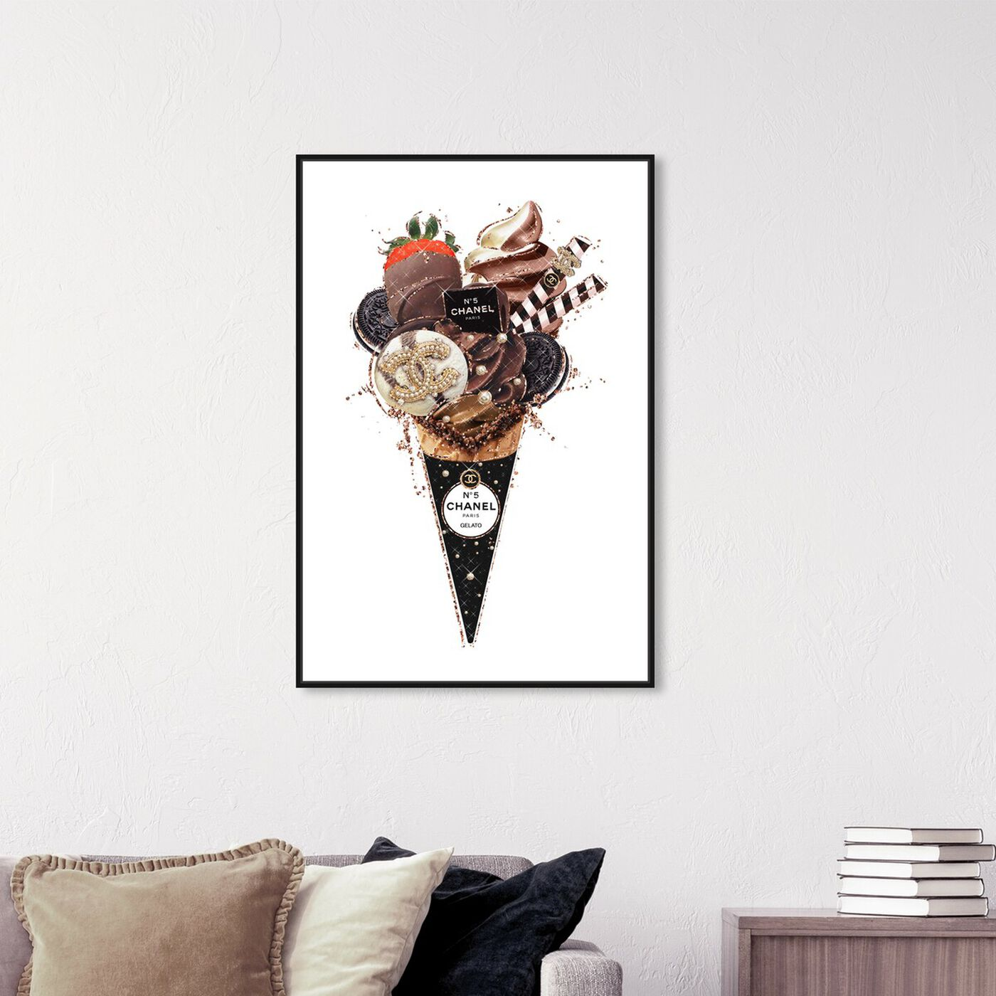 Hanging view of Black Oreo Gelato featuring fashion and glam and fashion lifestyle art.
