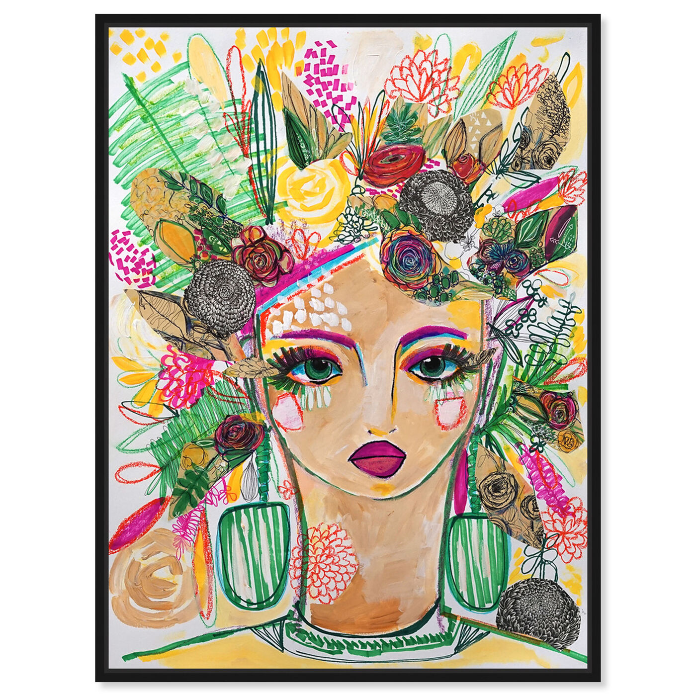 Front view of Spring Goddess featuring people and portraits and portraits art.