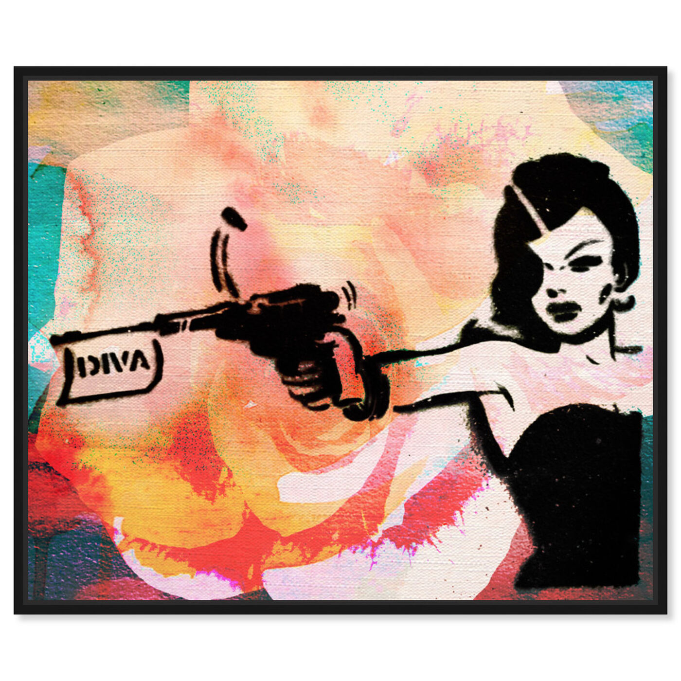 Front view of DIVA featuring entertainment and hobbies and machine guns art.