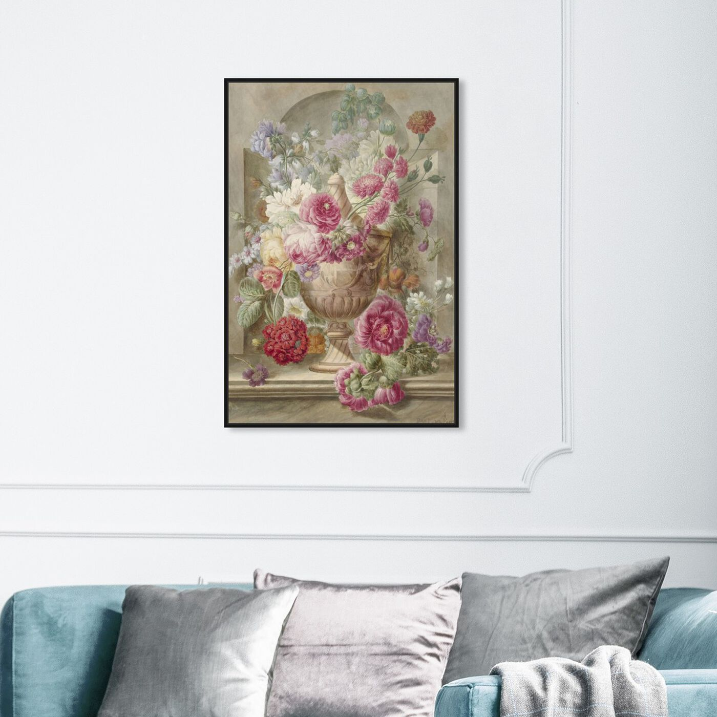 Hanging view of Flower Arrangement XII - The Art Cabinet featuring floral and botanical and florals art.