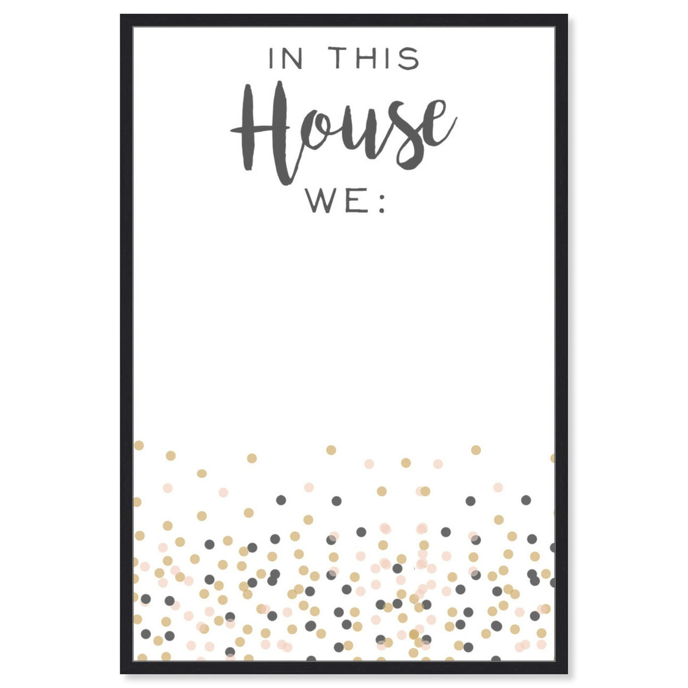 Front view of In This House featuring typography and quotes and family quotes and sayings art.