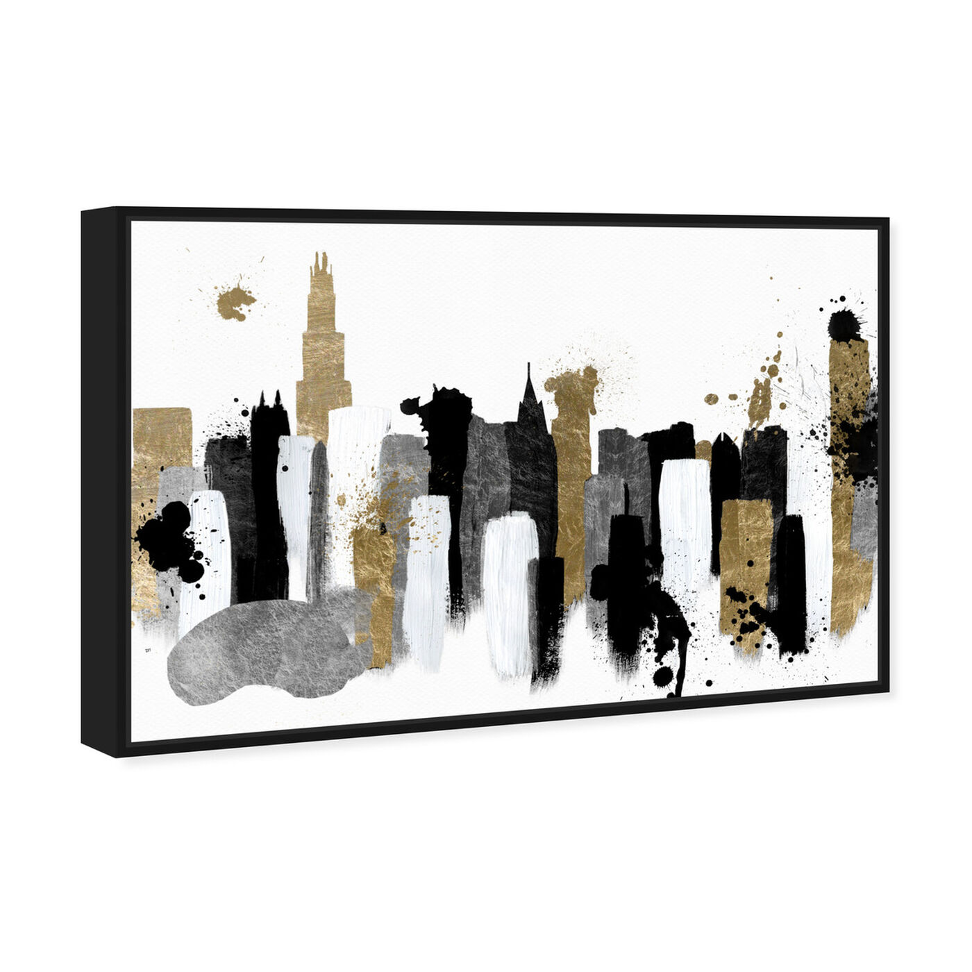 Angled view of Glamorous Chicago featuring abstract and paint art.