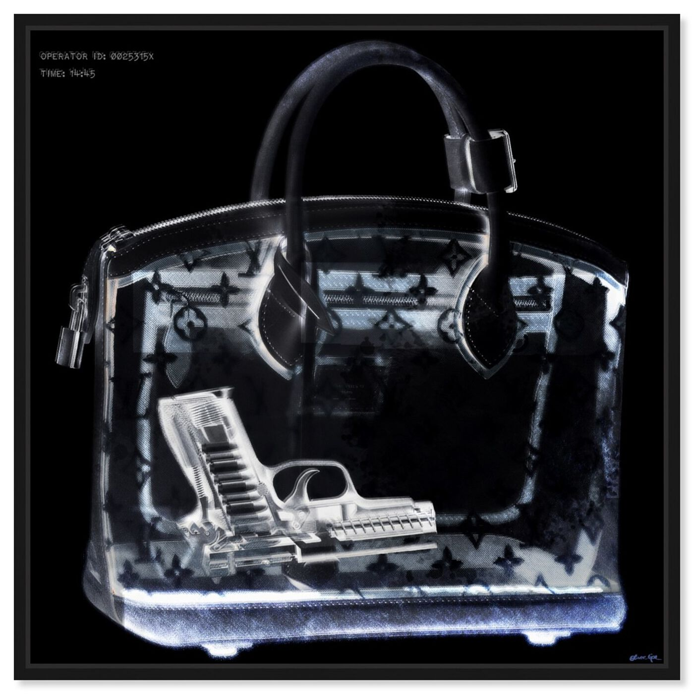 Front view of Couture X Ray featuring fashion and glam and handbags art.