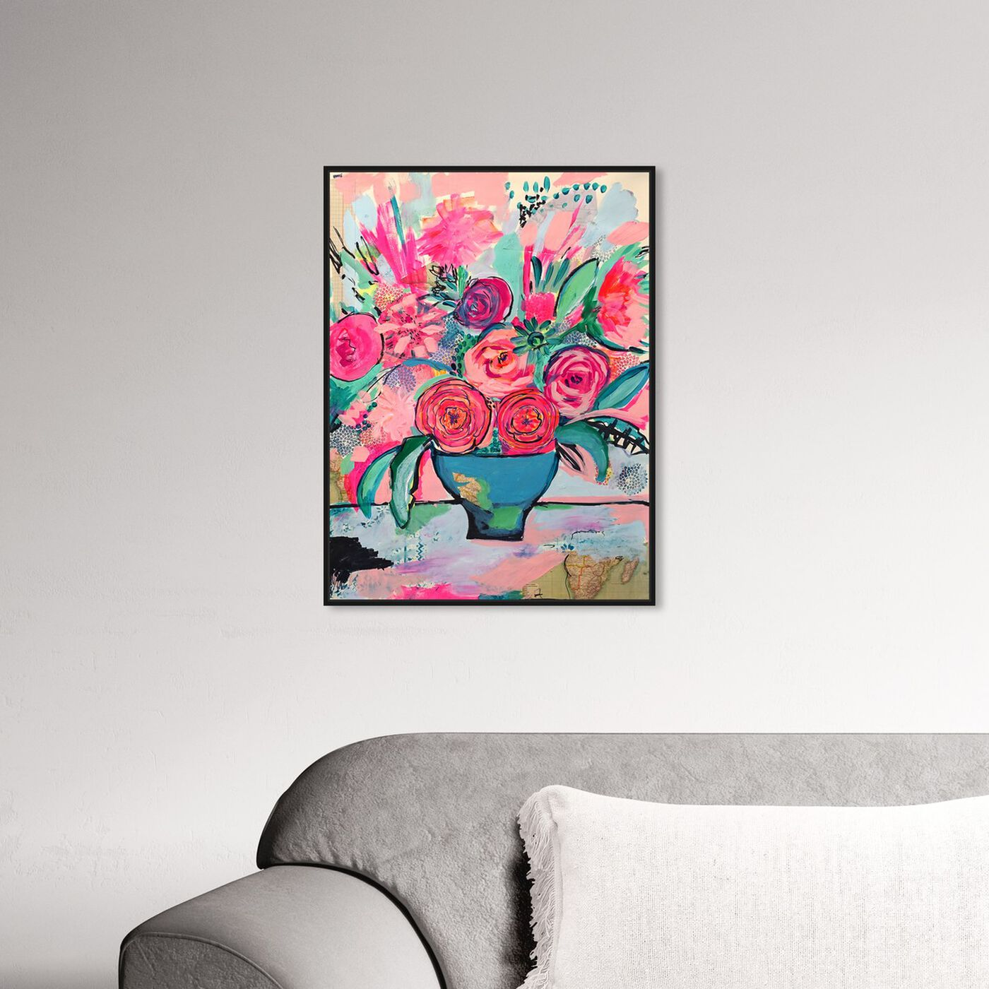 Hanging view of Viva la Vida featuring floral and botanical and florals art.