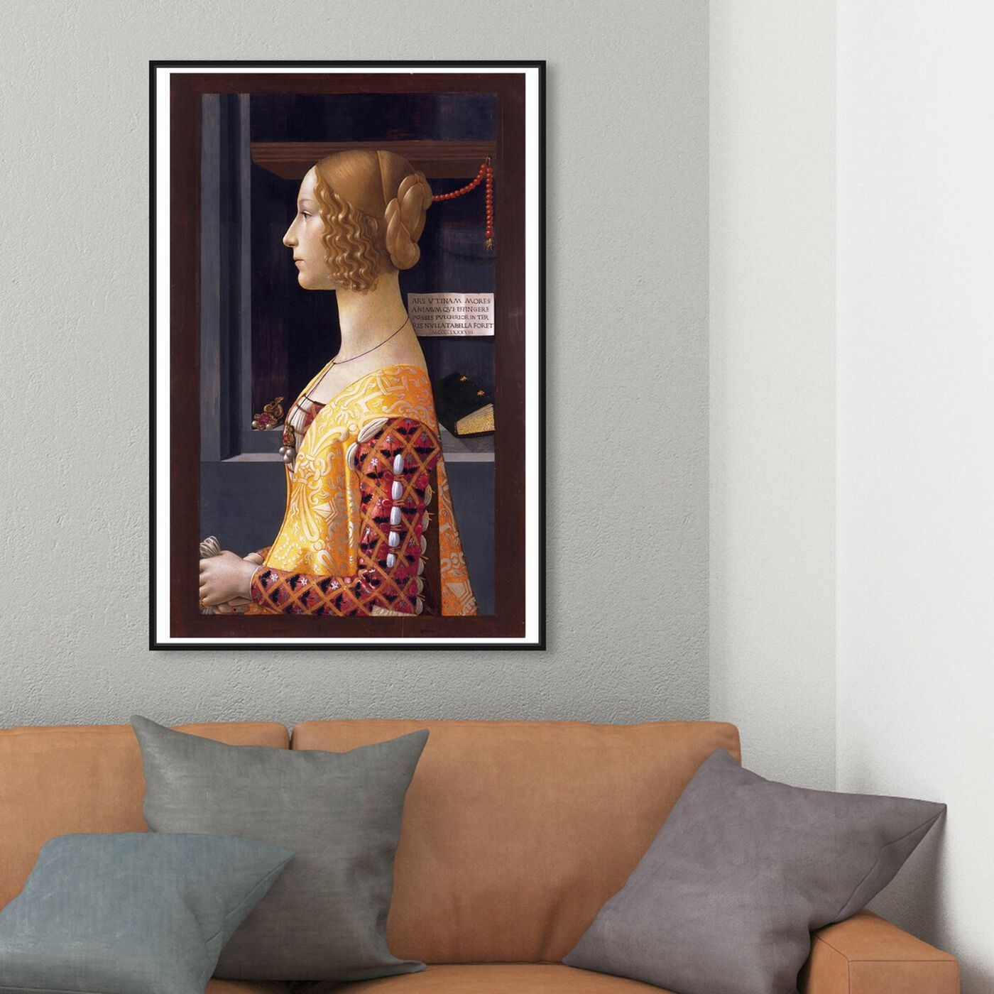 Hanging view of Ghirlandaio - Giovanna Tornabuoni featuring classic and figurative and renaissance art.