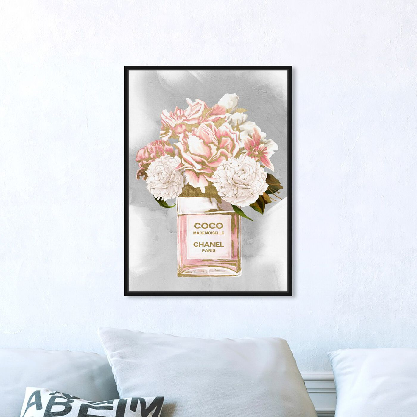 Hanging view of Floral Perfume Peonies Tall featuring fashion and glam and perfumes art.